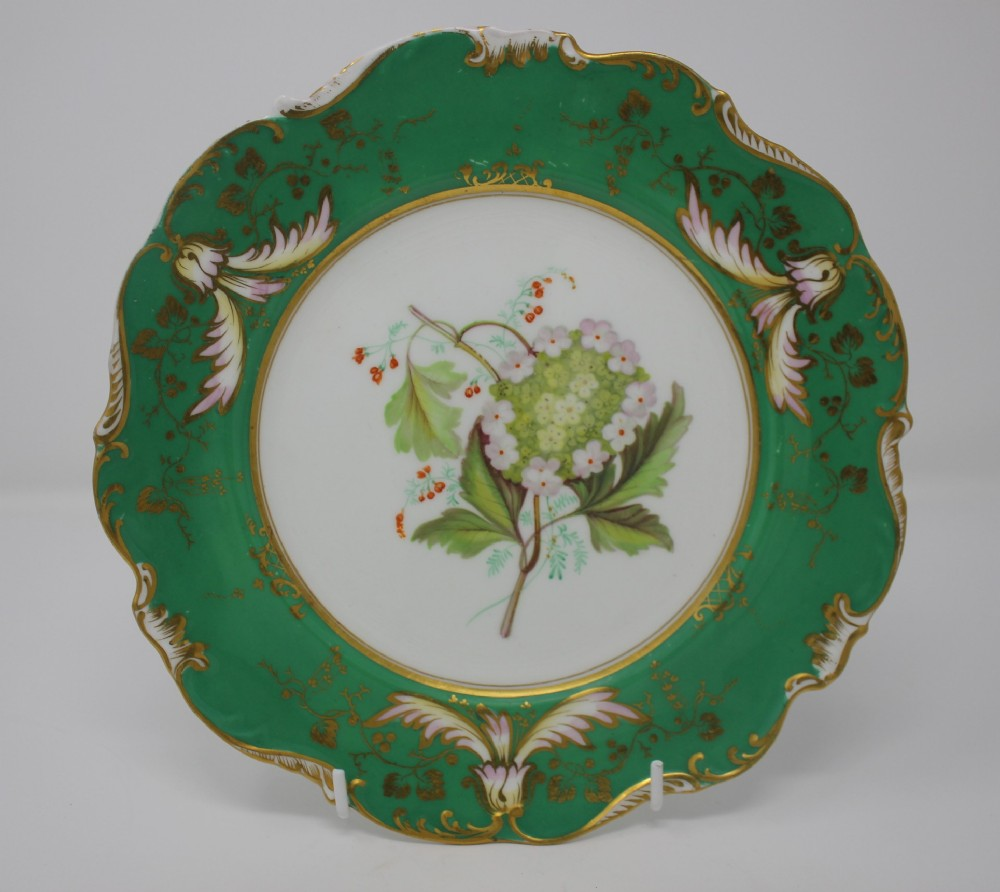 antique hand painted coalport plate c 1836 by edwin green