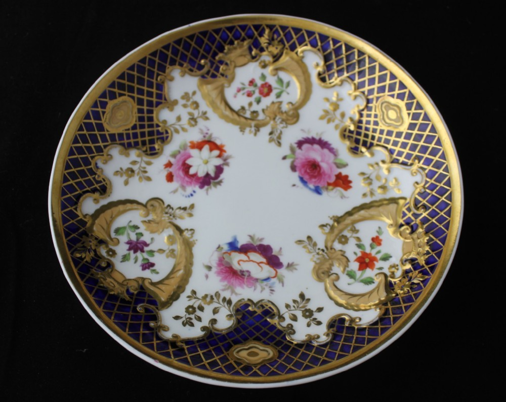 early 19th century ridgeway hand painted plate or saucer