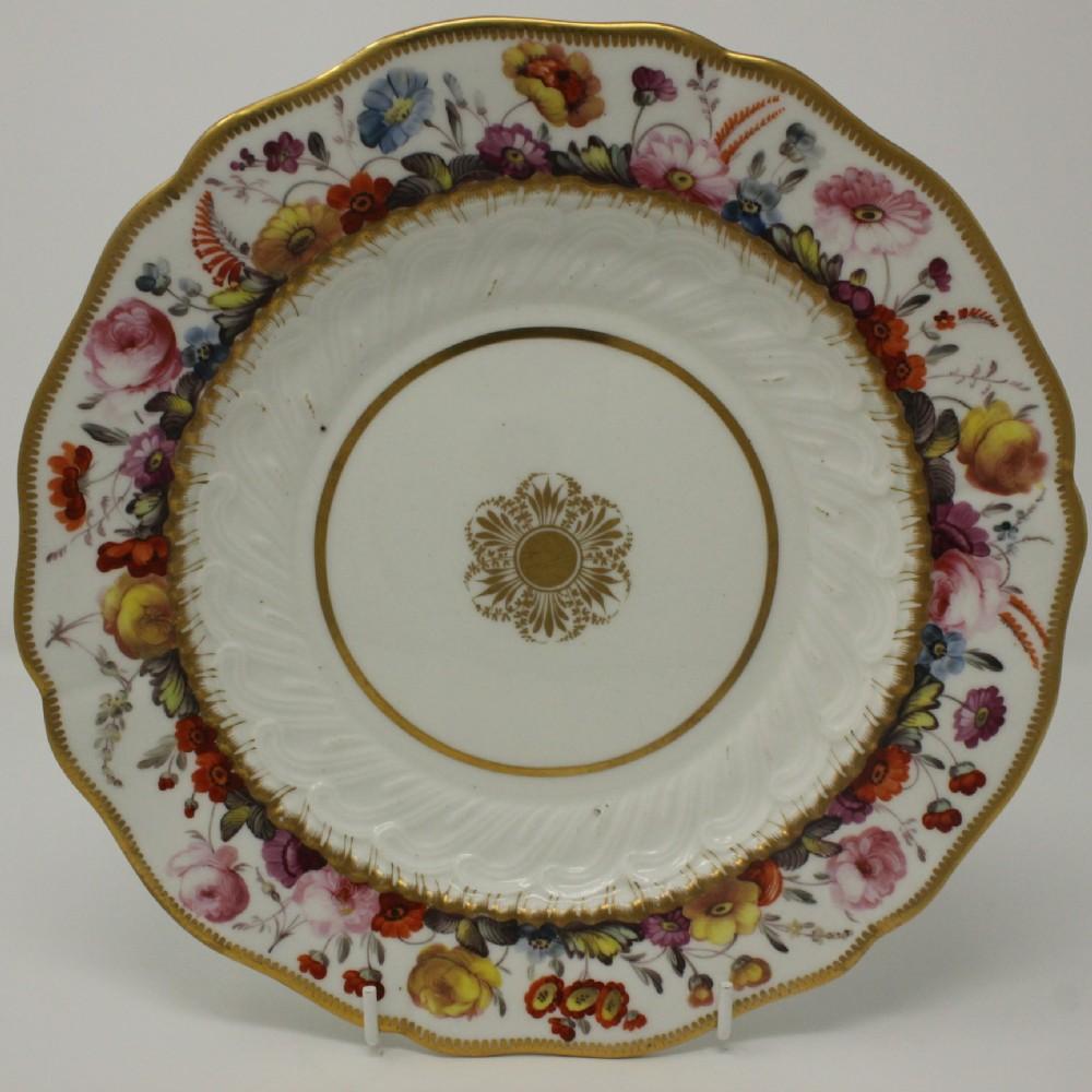 early 19thc coalport dessert plate attrib daniel evans