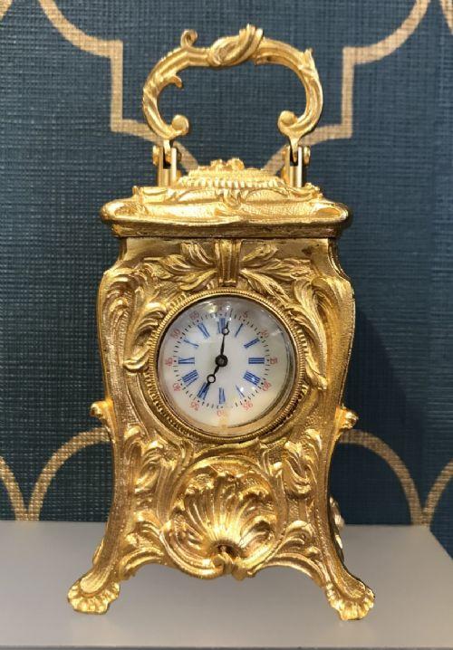 miniature roccoco carriage clock