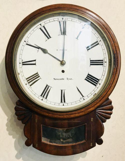 8 day fusee english drop dial wall clock