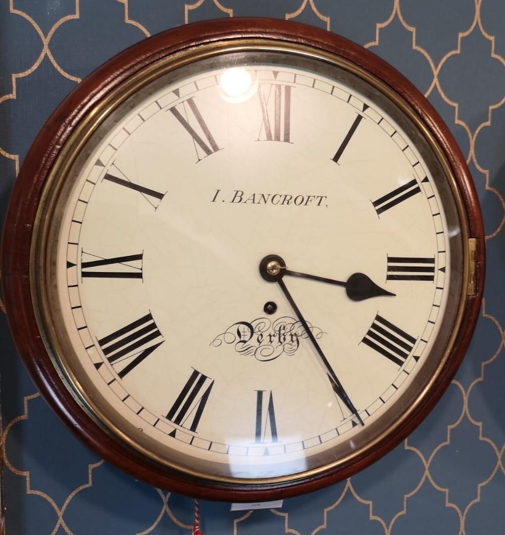 bancroft fusee english dial wall clock