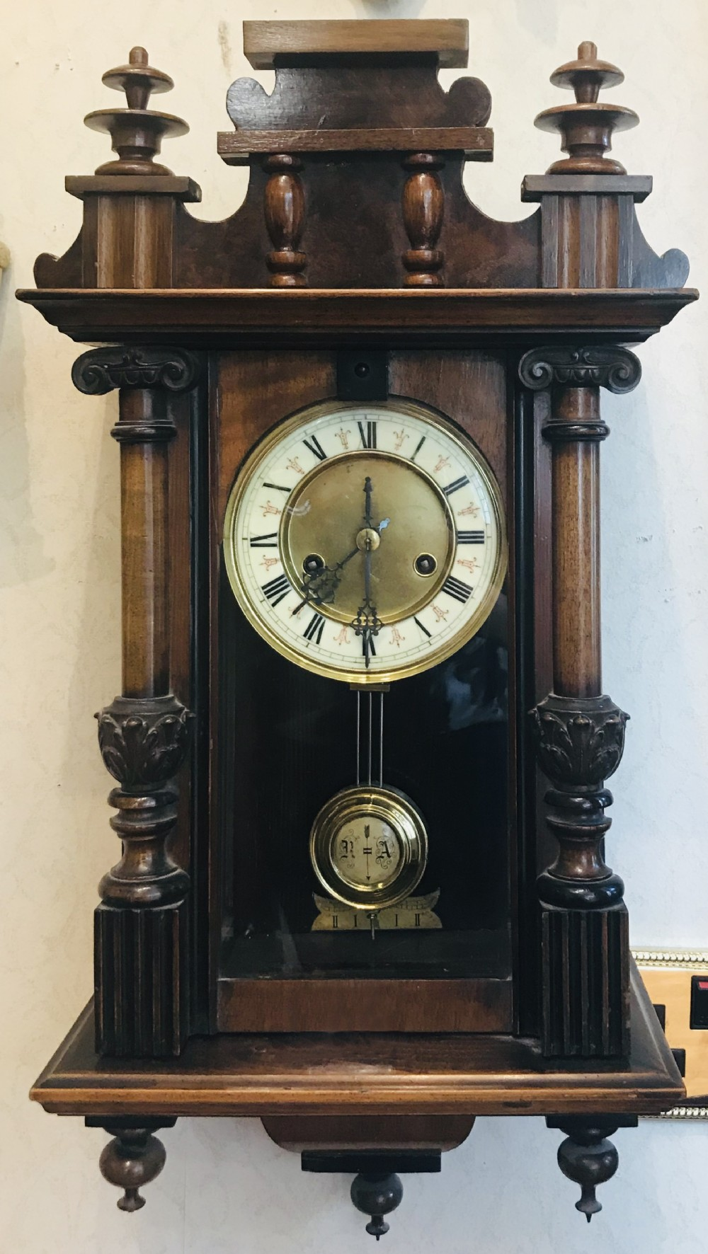 spring vienna wall clock
