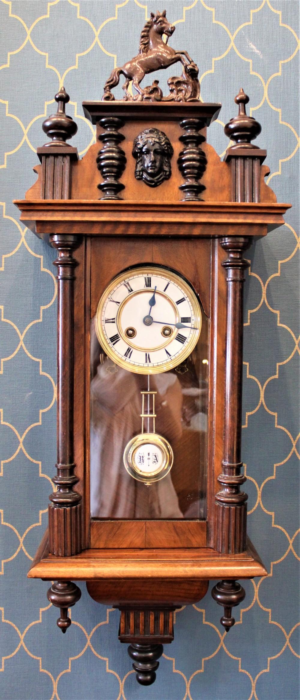 miniature vienna style wall clock