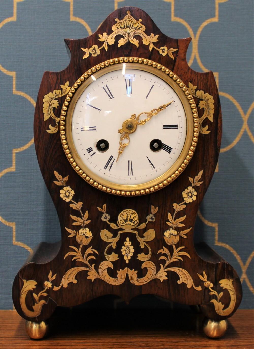 silk suspension french mantel clock
