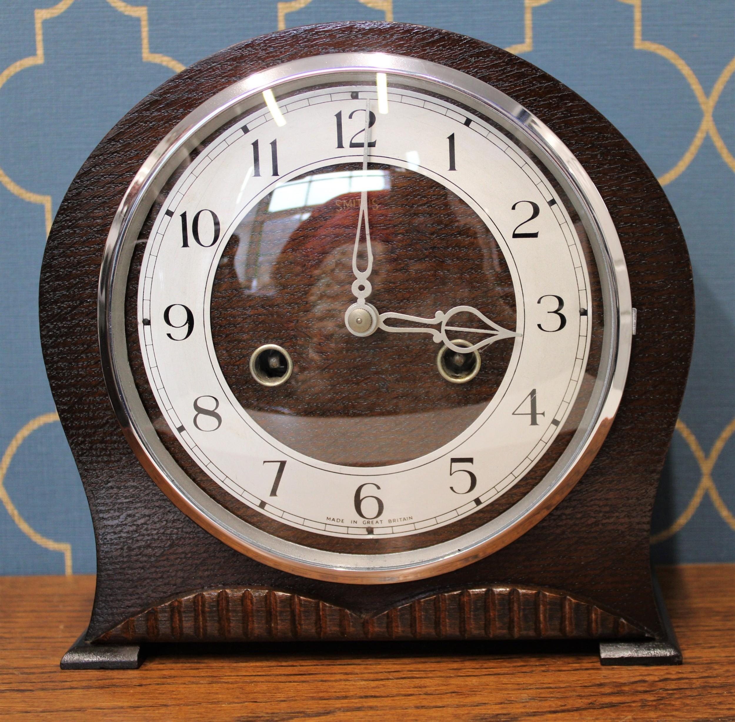 smiths art deco mantel clock