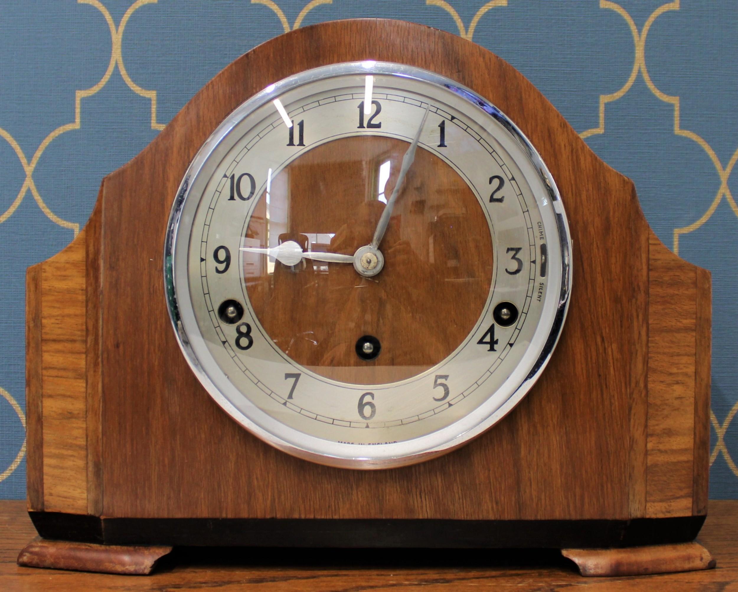 garrard 8 day walnut mantel clock