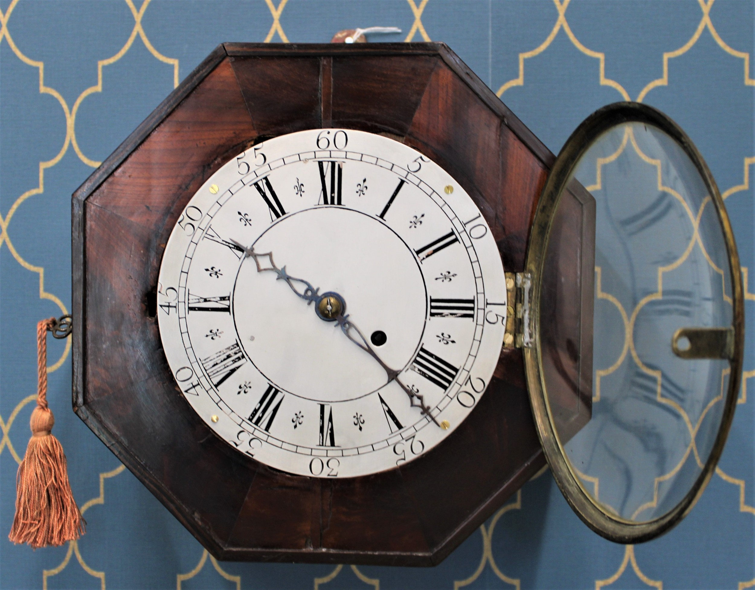 8 day english dial verge wall clock