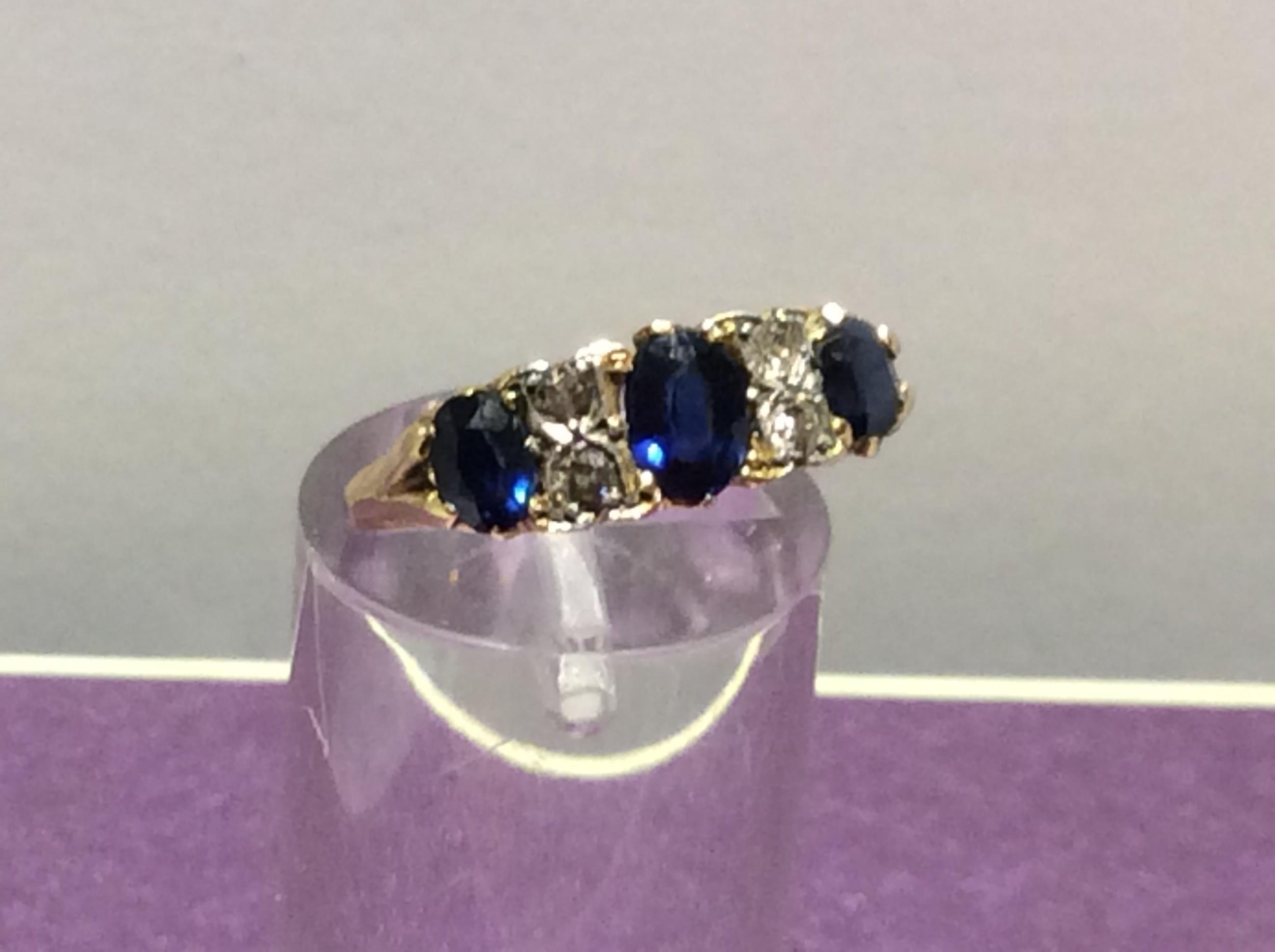 18ct sapphire and diamond ring