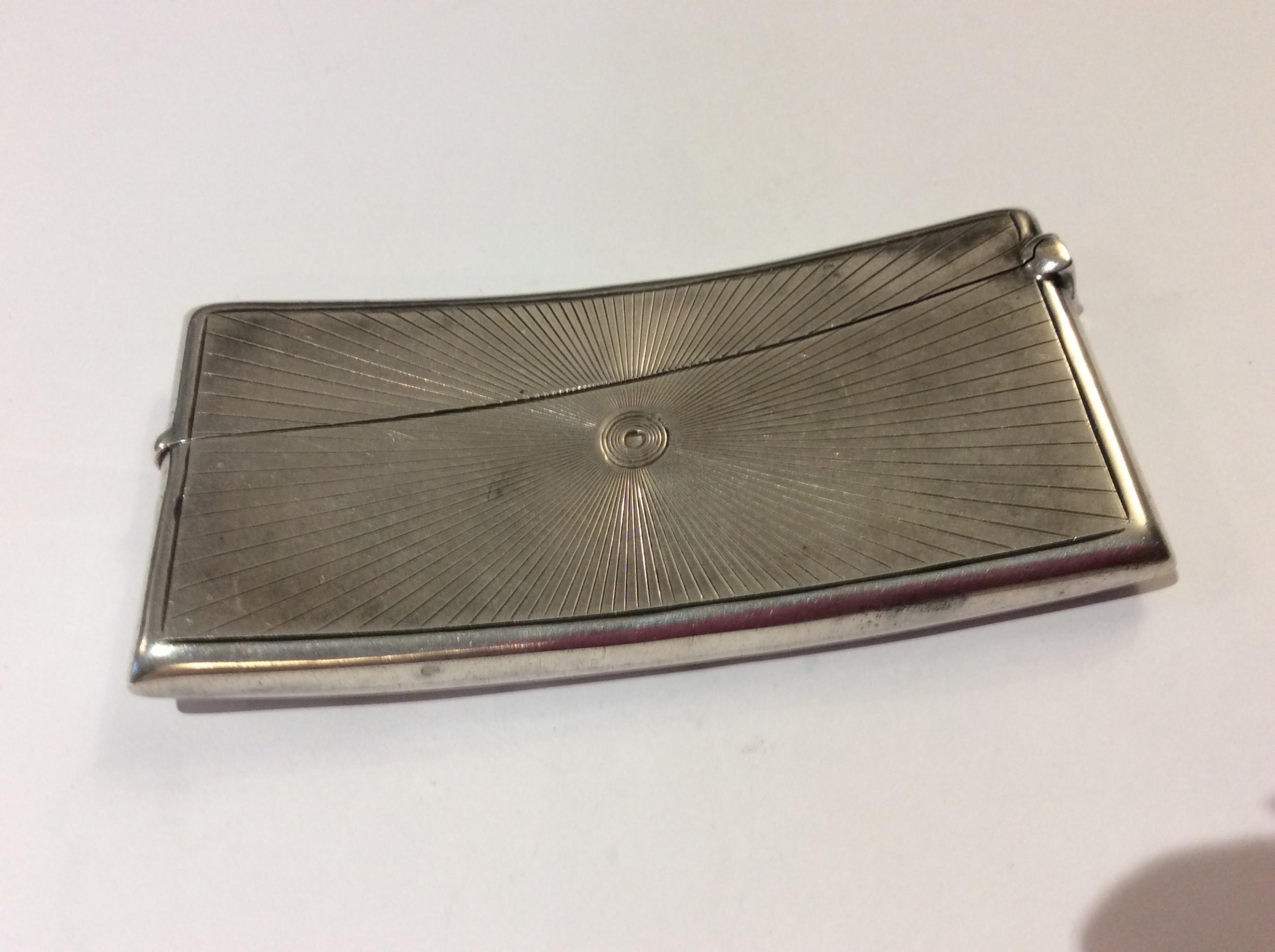 silver calling card case