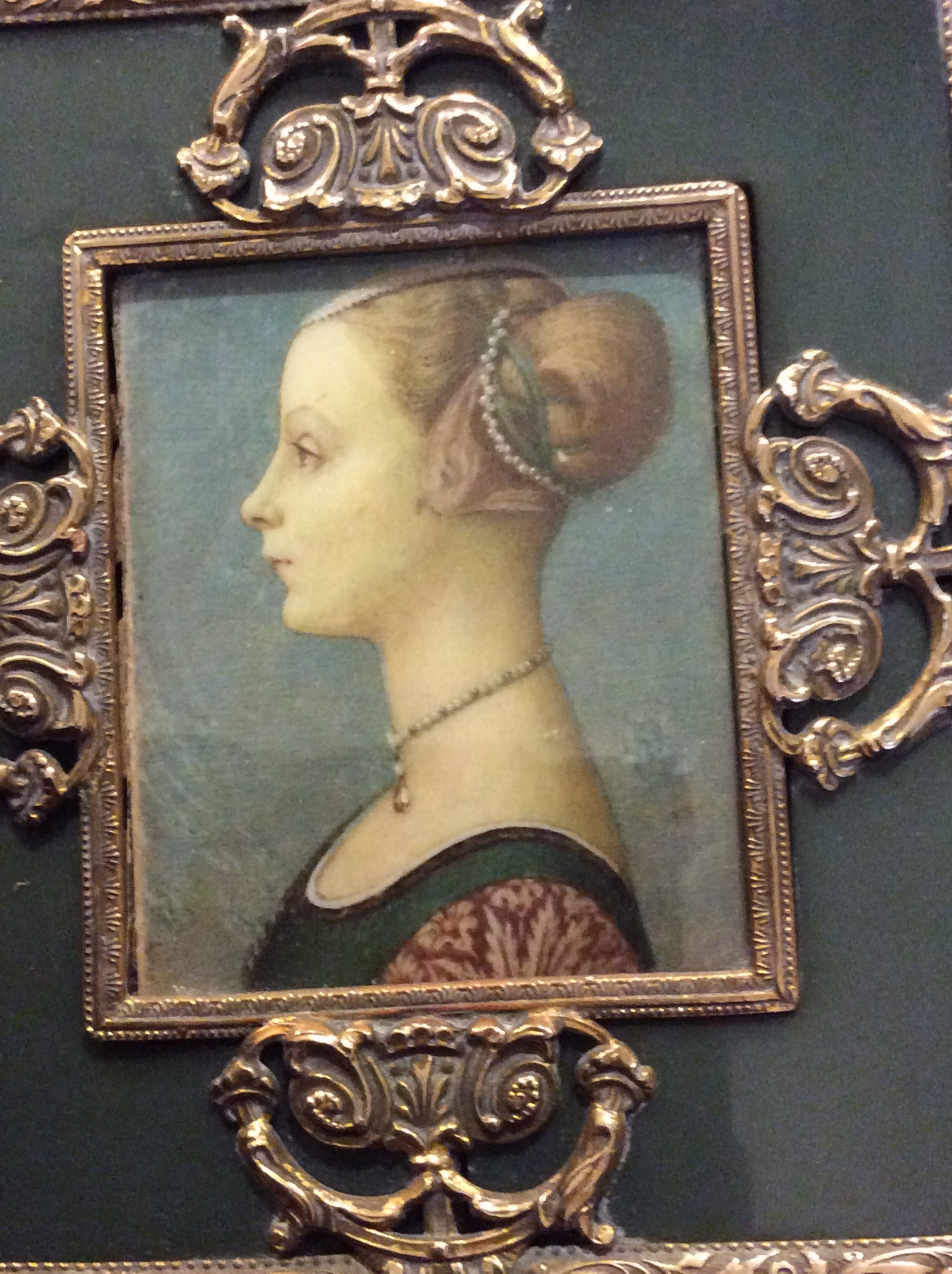 19th century minature painting portrait of a young woman