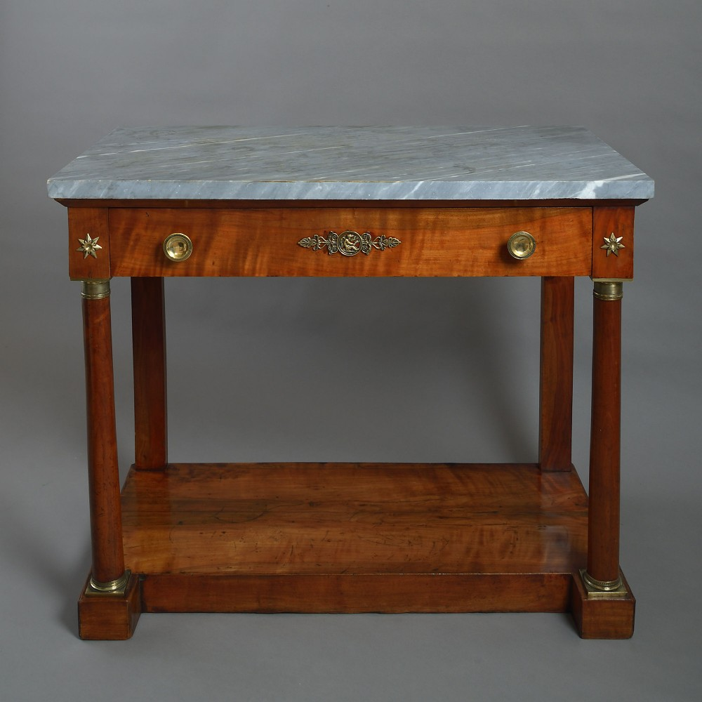 early 19th century empire period satinwood console table