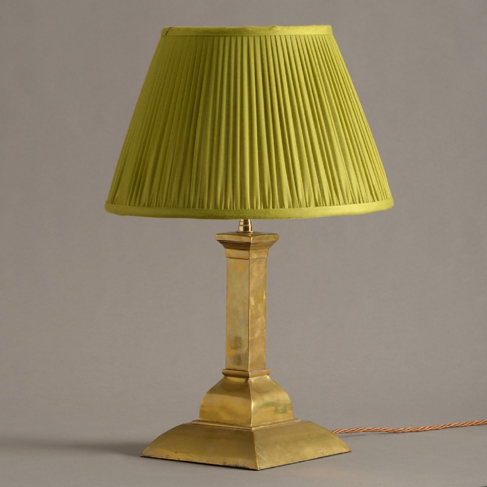 an early 20th century brass table lamp
