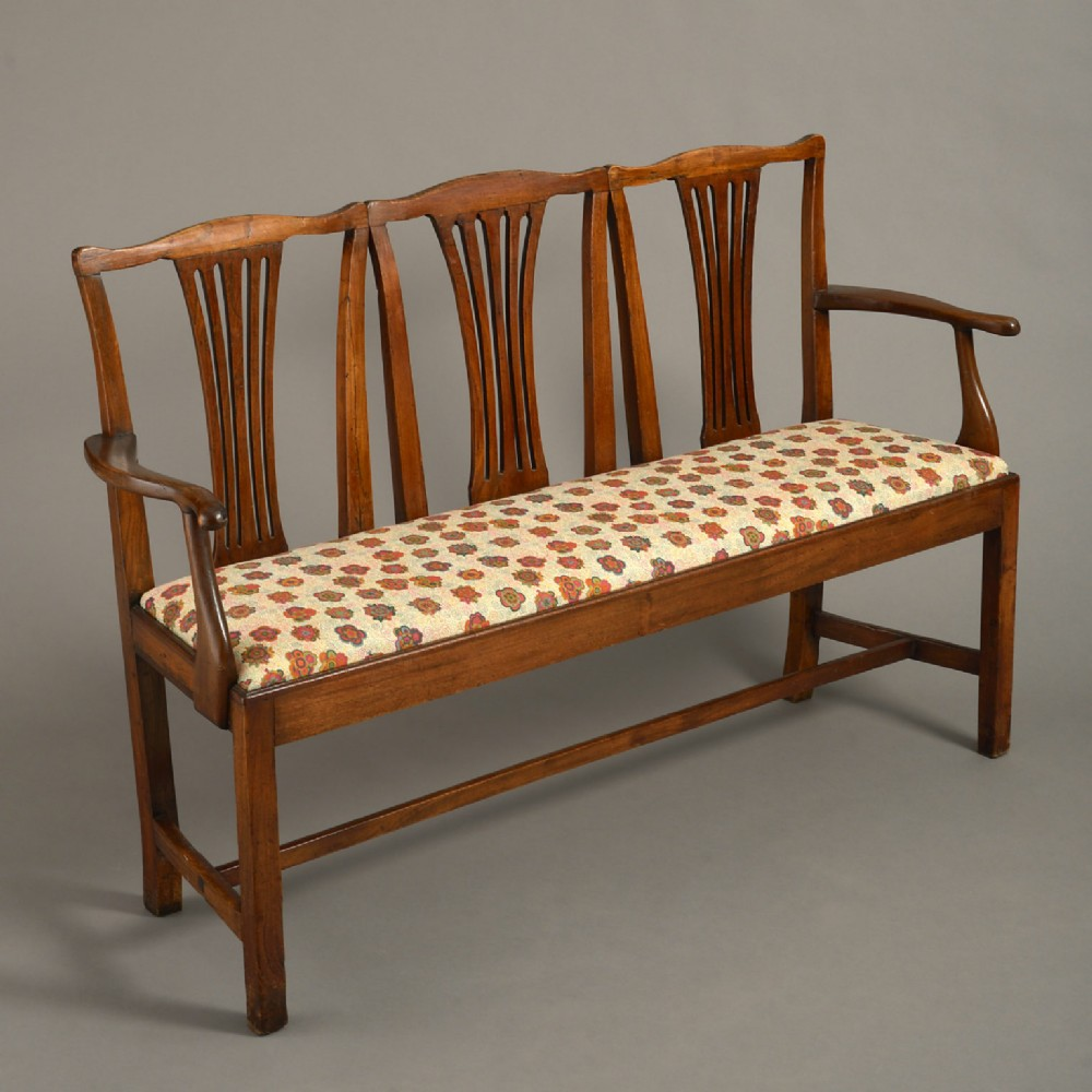 an 18th century george iii period elm settee