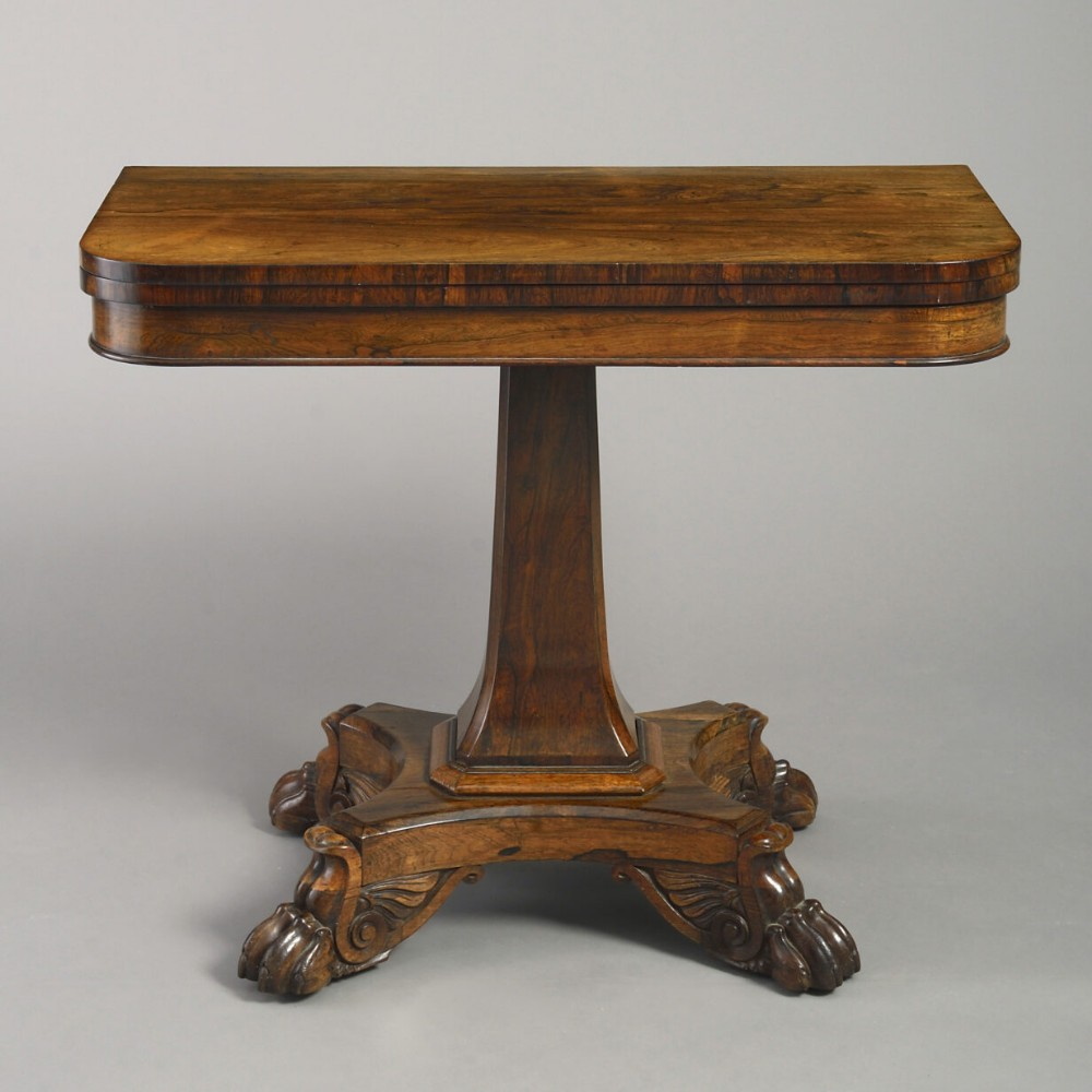 early 19th century regency period rosewood tea table