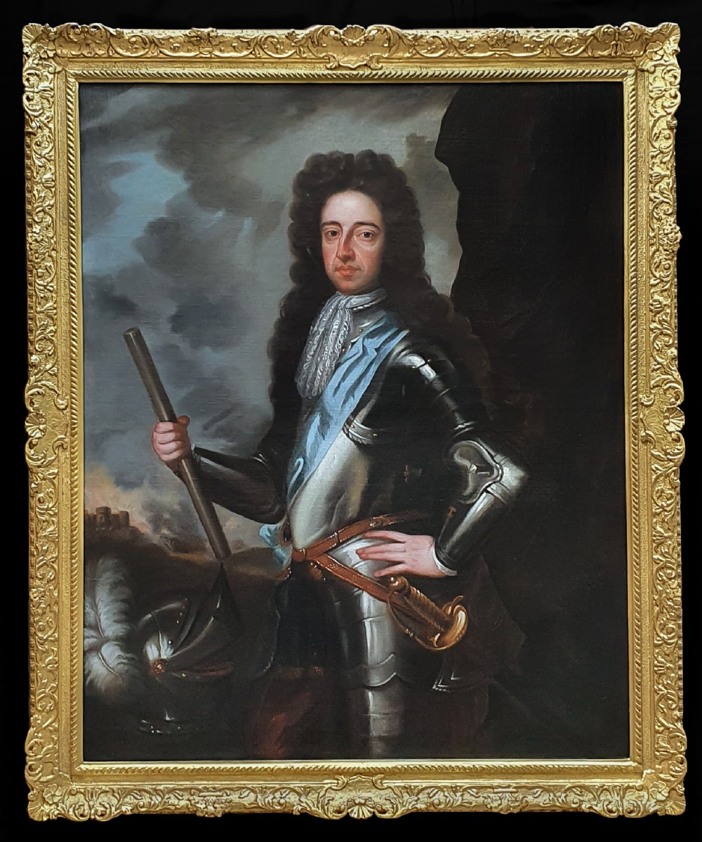 portrait of king william iii c1700 studio of sir godfrey kneller 16461723 antique oil on canvas painting