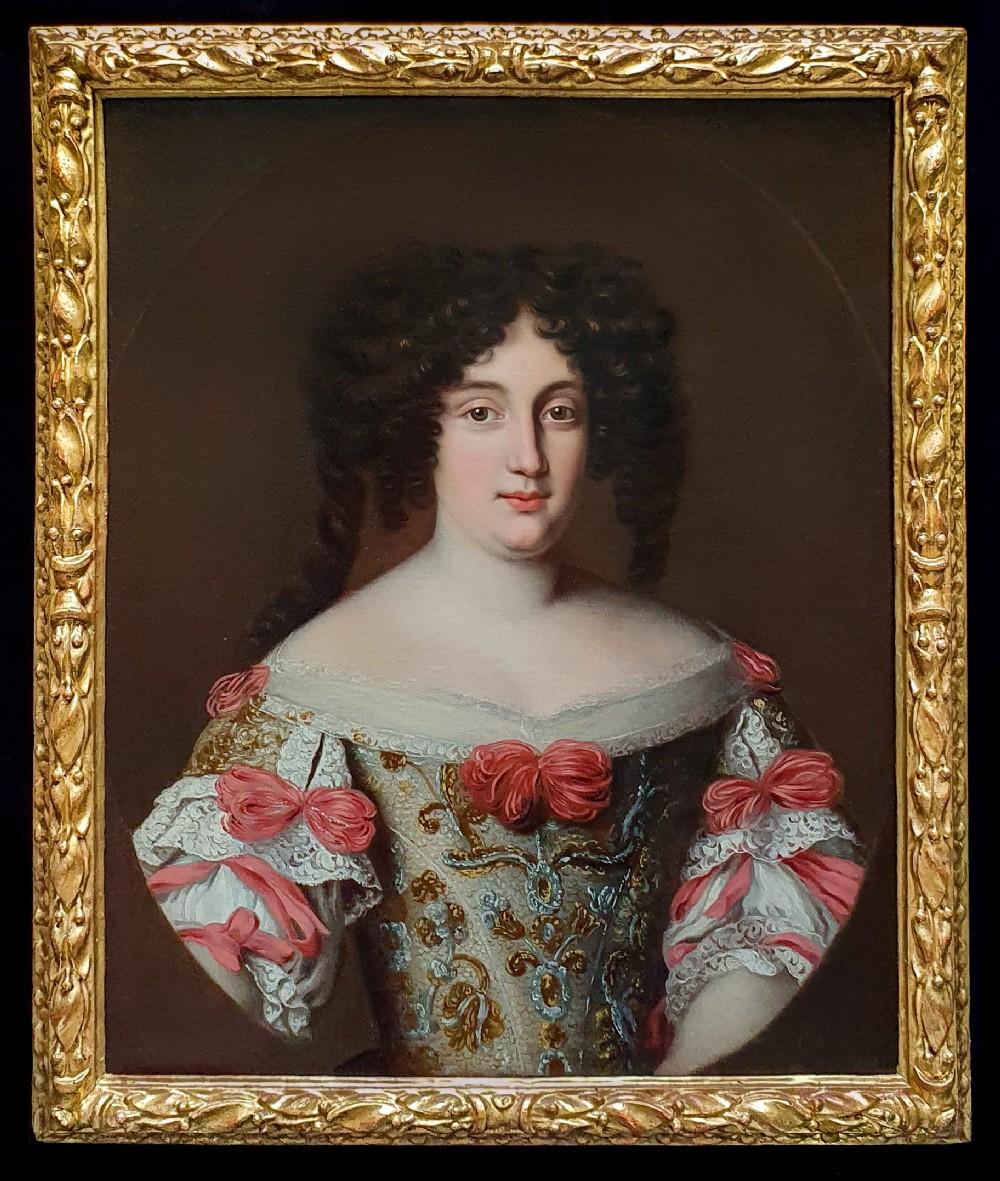 portrait of maria virginia borghese chigi princess farnese 16421718 c166378 studio of jacob ferdinand voet c 16391700 antique oil on canvas painting