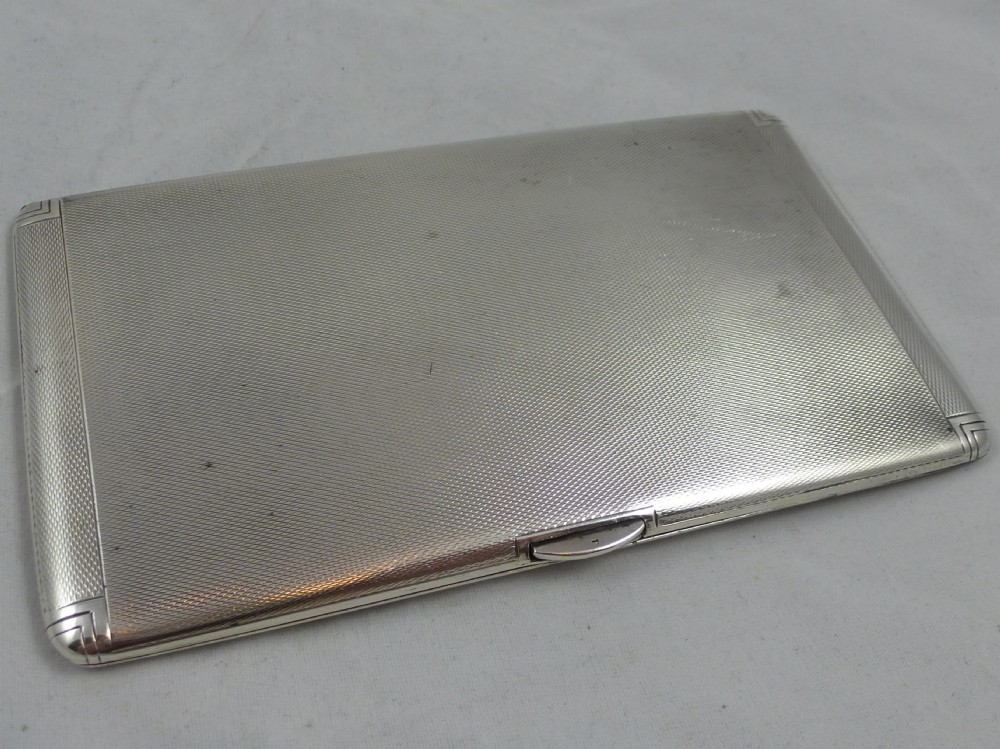 16ba7f92d7f3 an art deco engine turned hallmarked sterling silver cigarette case made by  charles s green co