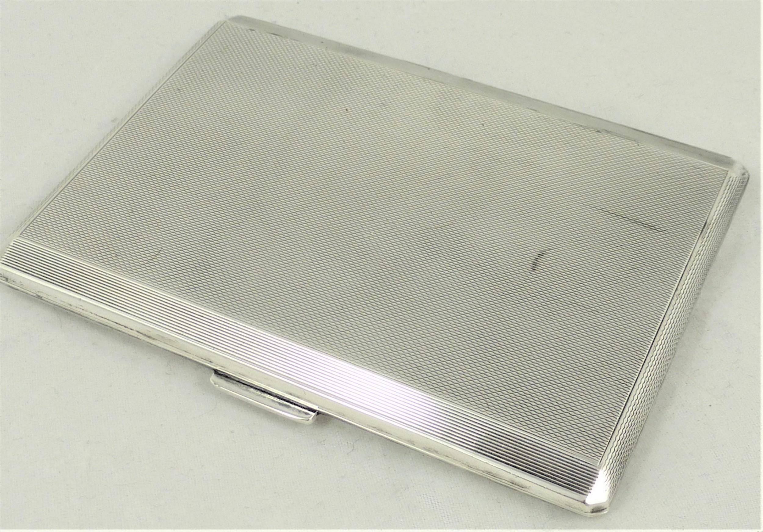 a sterling silver cigarette case