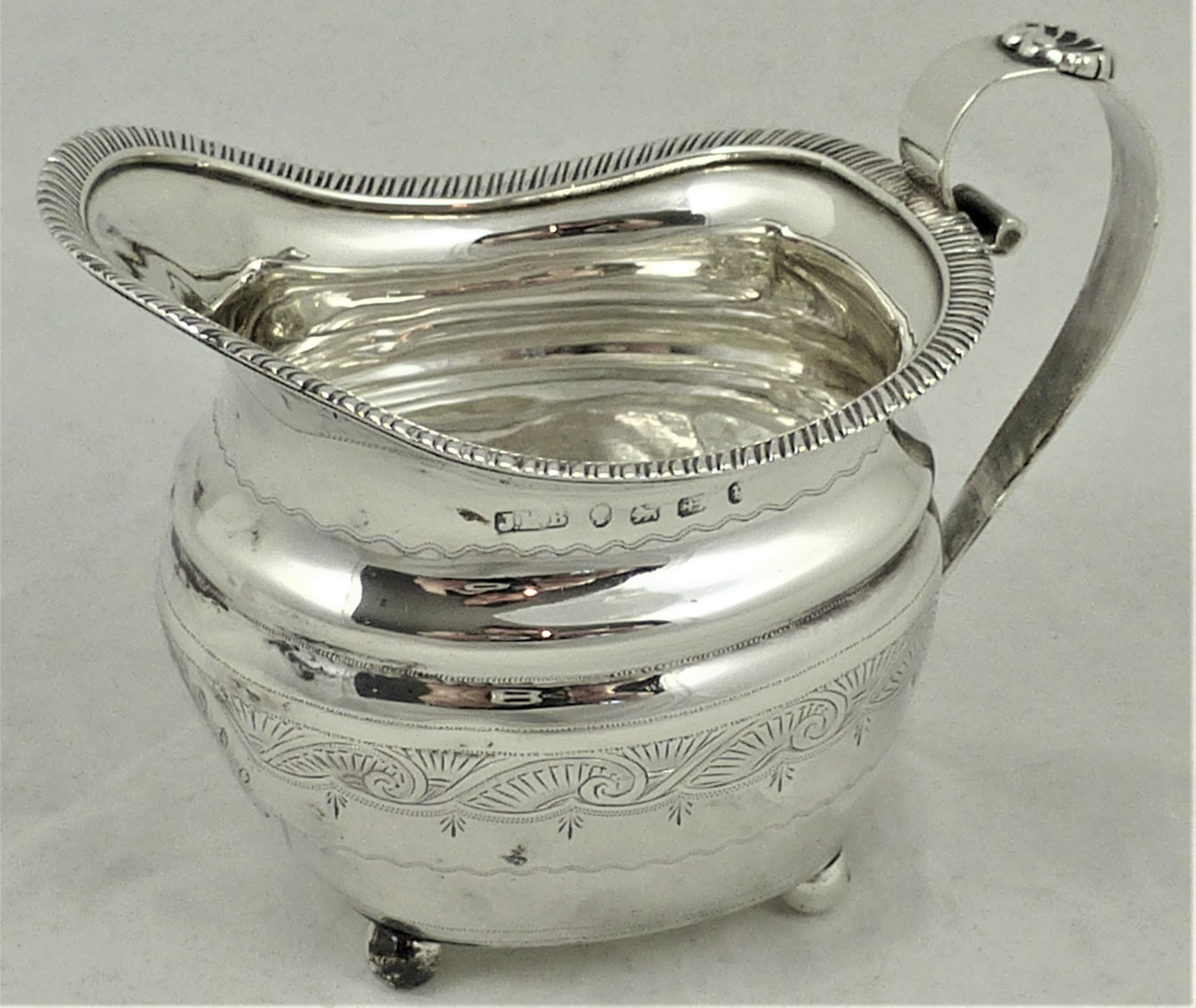 victorian silver milk jug