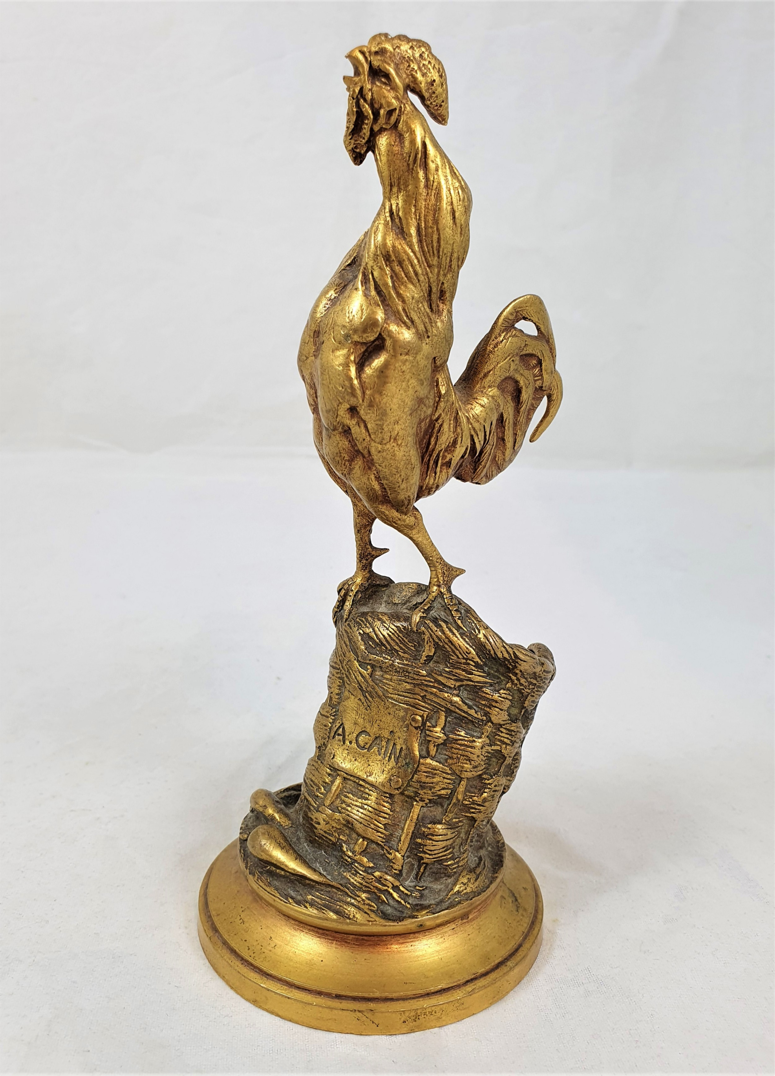 auguste nicholas cain bronze rooster