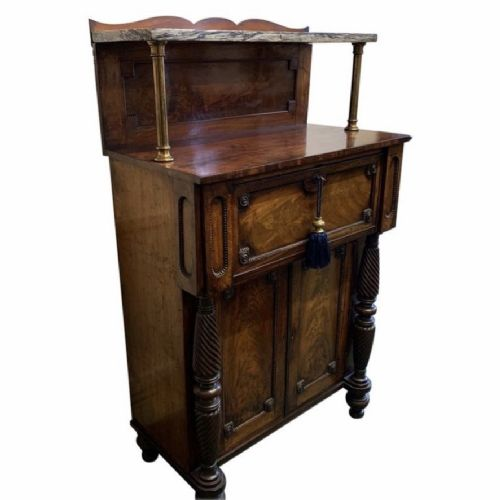 william iv chiffonier with hidden drawers and marble