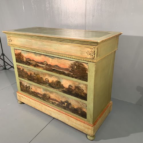 french painted commode chest of drawers