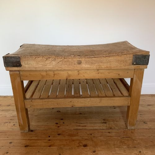 country house butchers block with slatted pot board base