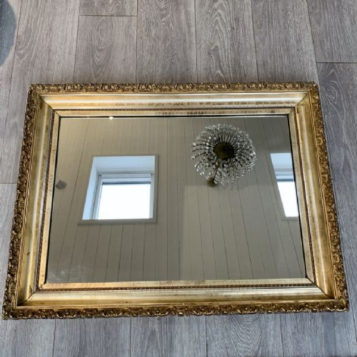 good size gilt wall mirror with water gilding
