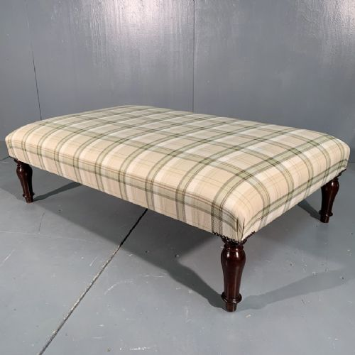 large and low victorian centre footstool