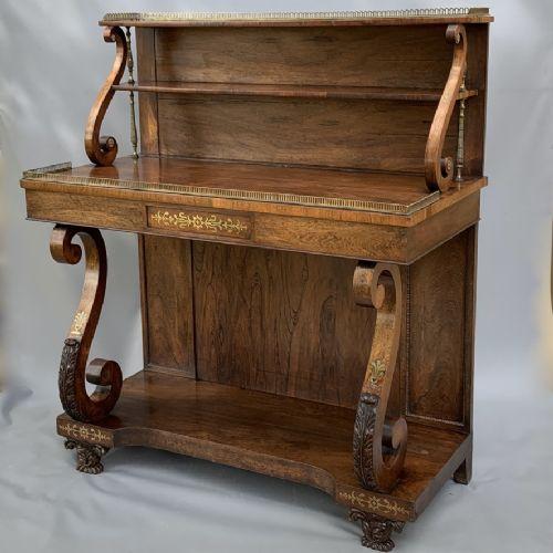 grand scale regency rosewood brass chiffonier