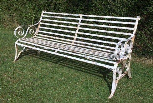 Wrought Iron Garden Furniture Uk Antique victorian strap work 6 ft wrought iron garden bench 288456 antique victorian strap work 6 ft wrought iron garden bench workwithnaturefo