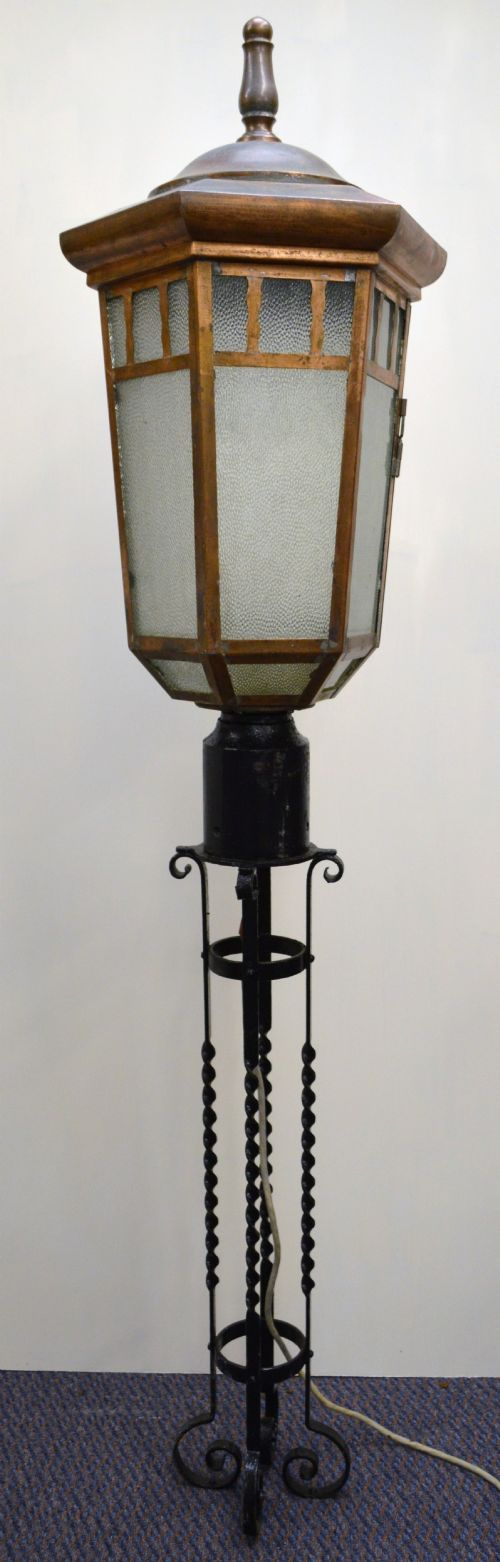 Architectural Salvage Reclaimed Copper Lantern Street Light Exterior Lamp |  316576 | Sellingantiques.co.uk