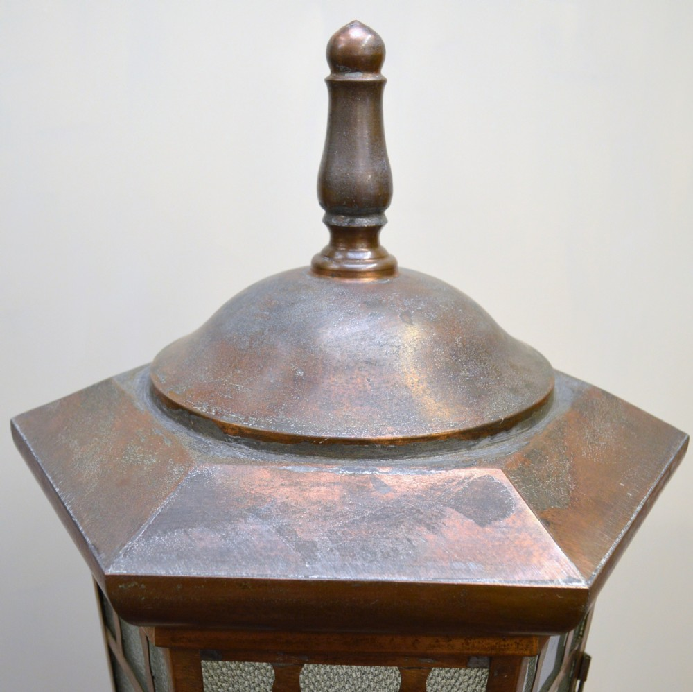 Architectural Salvage Reclaimed Copper Lantern Street Light Exterior Lamp |  263091 | Sellingantiques.co.uk