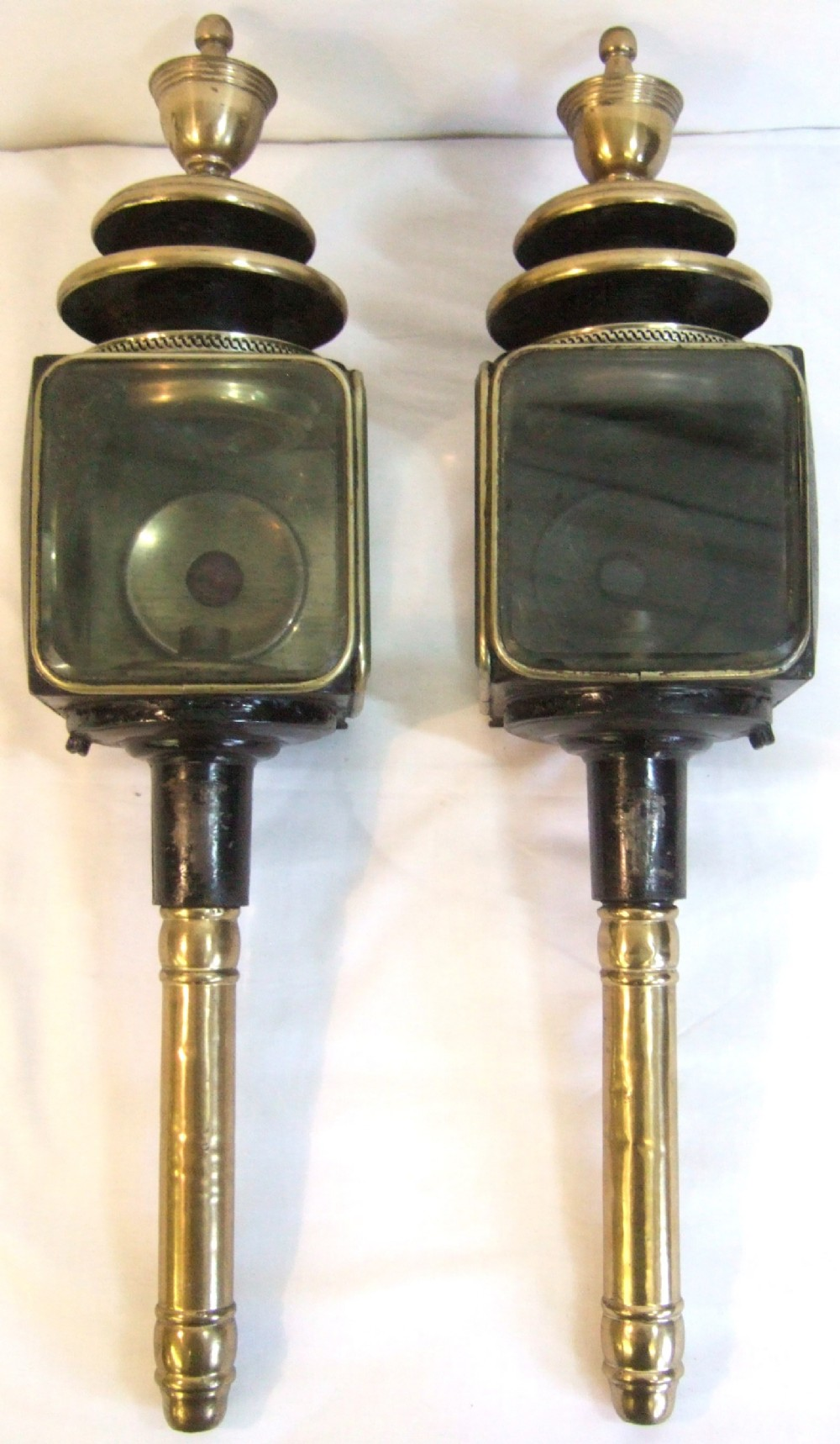 Great Pair Of Original Victorian Coach Lamps