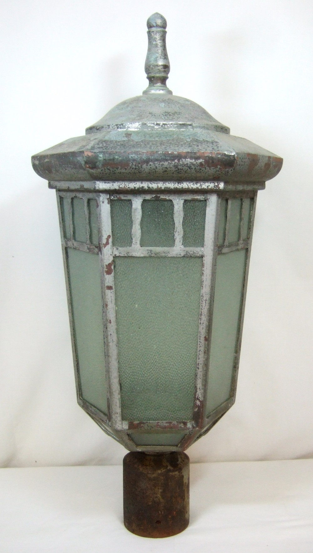 Architectural Salvage Reclaimed Copper Lantern Street Light Exterior Lamp