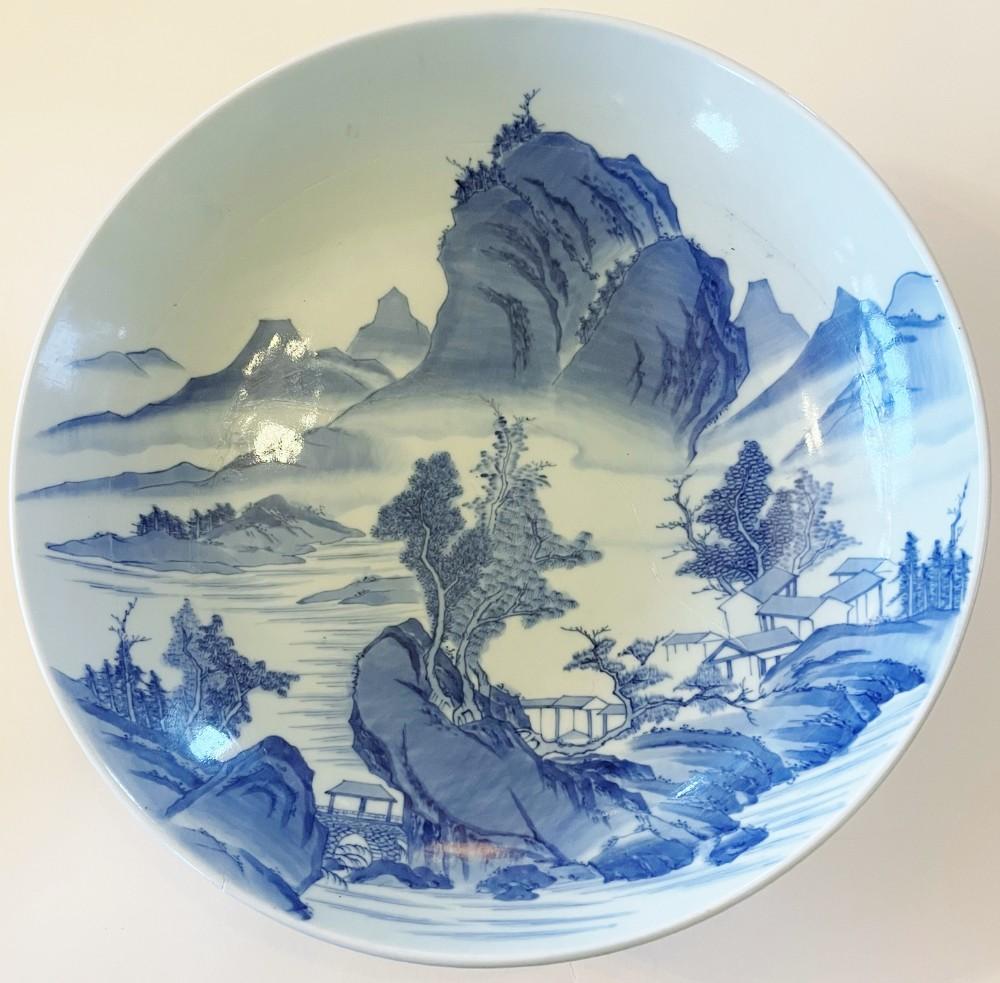 nabeshima shakuzara large japanese dish 343 mm 1819 century