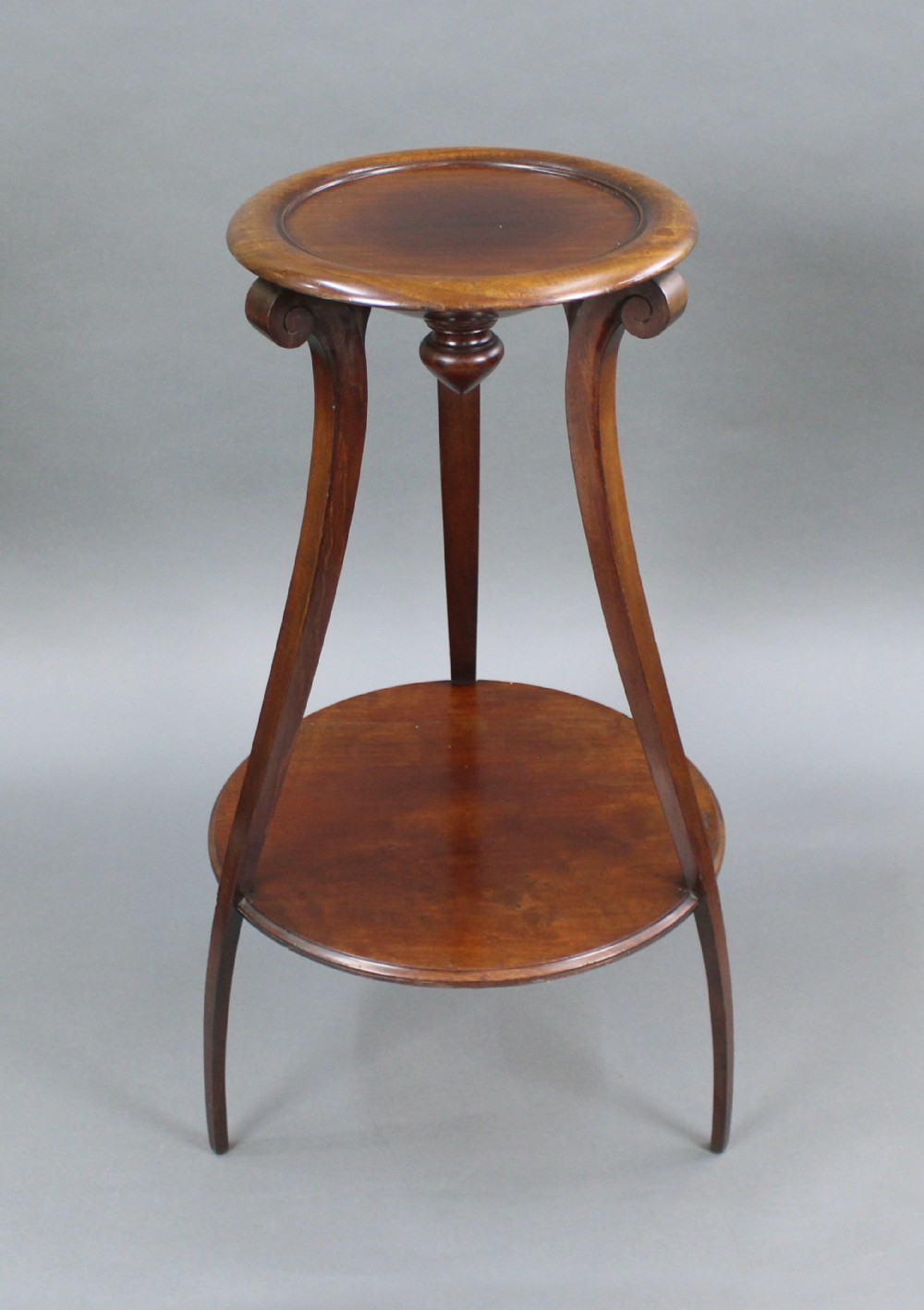 early 19th c mahogany two tier pedestal stand