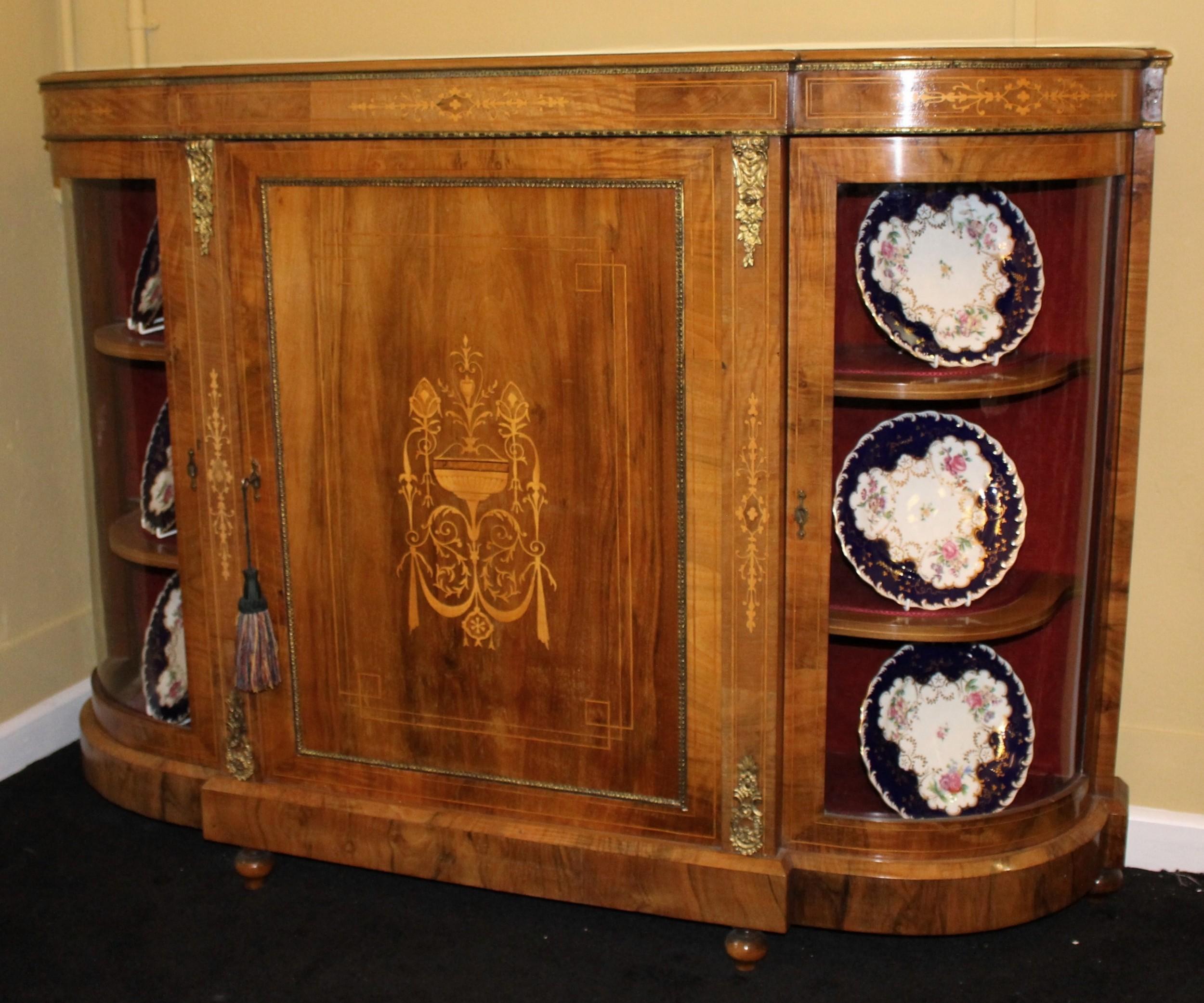 La Credenza Uk : Fine 19th c. figured walnut credenza c.1860 565614
