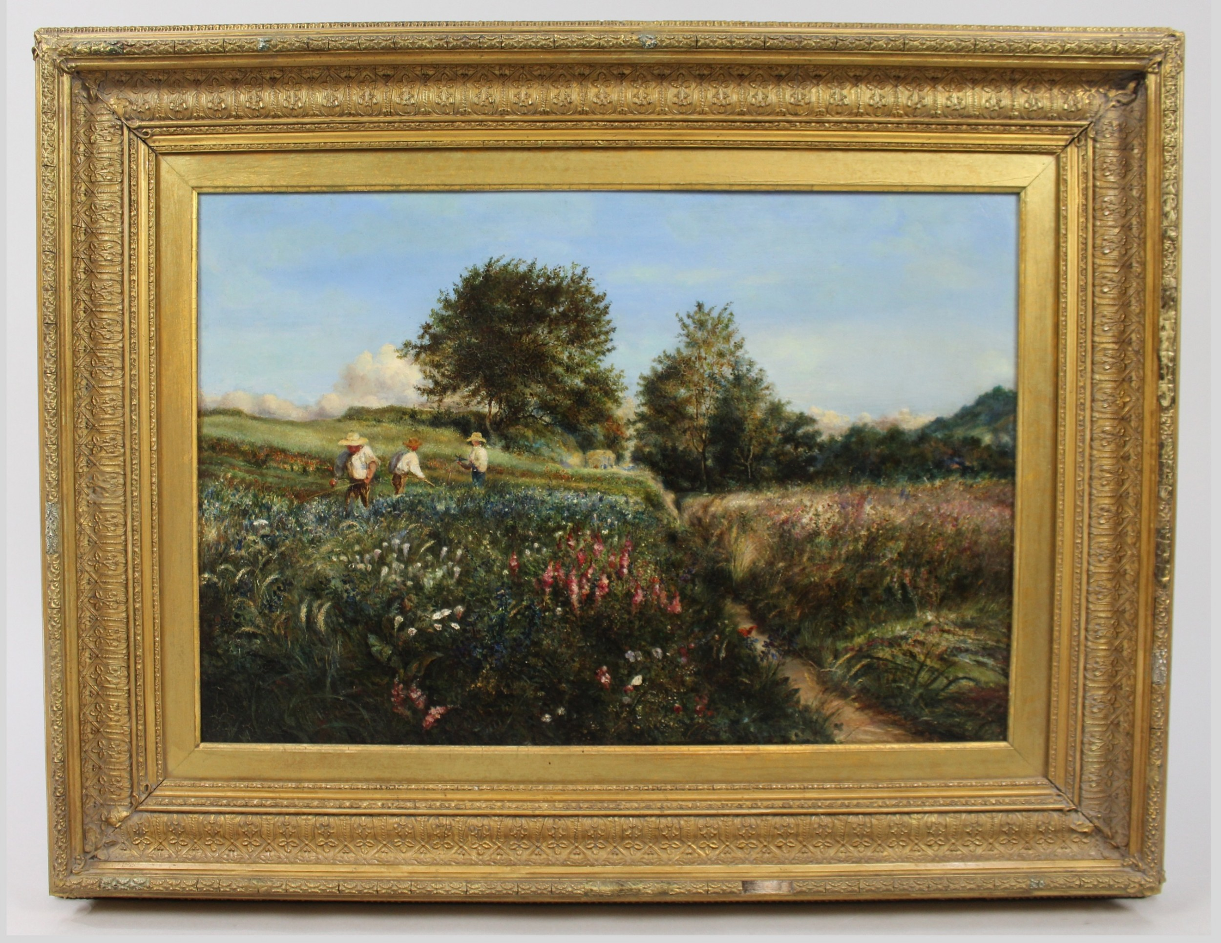 landscape thomas edwards 19th c british oil on canvas