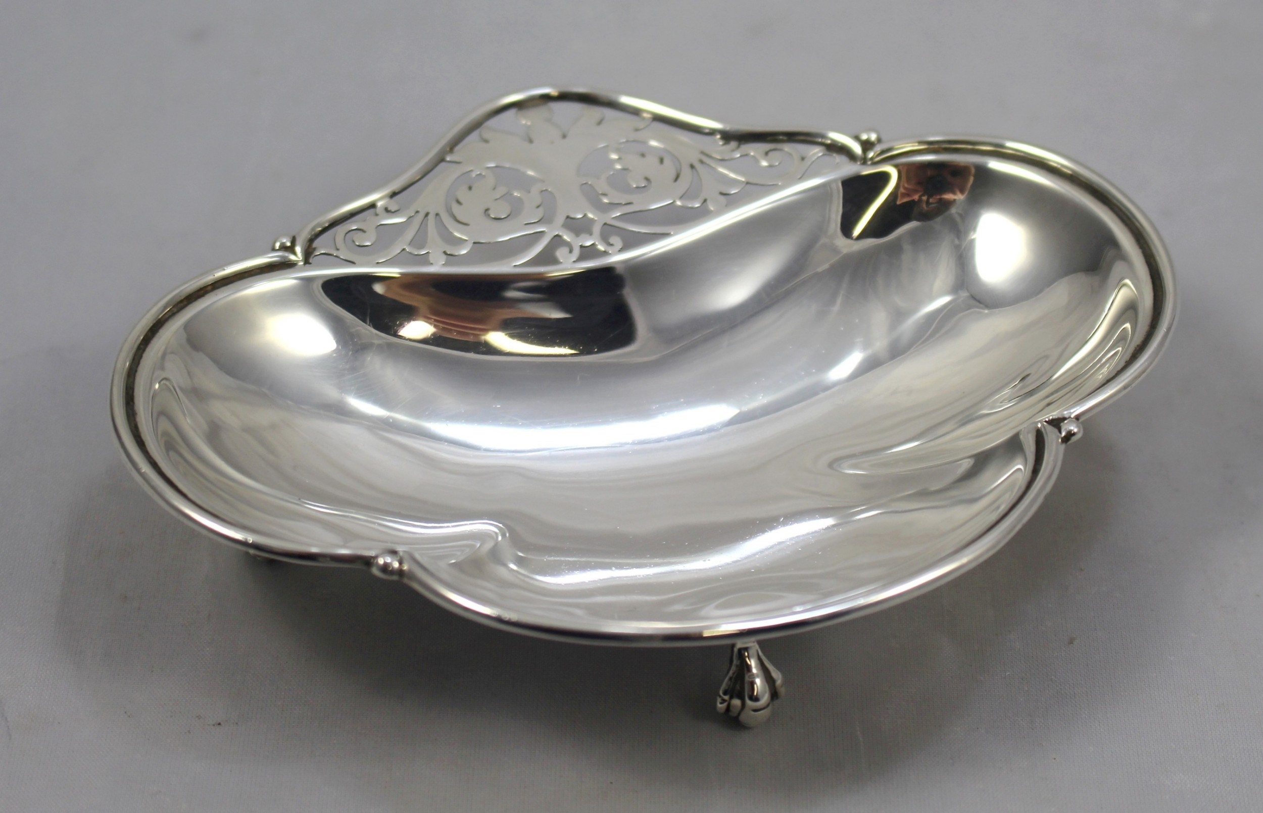 sterling silver footed bonbon dish london 1913