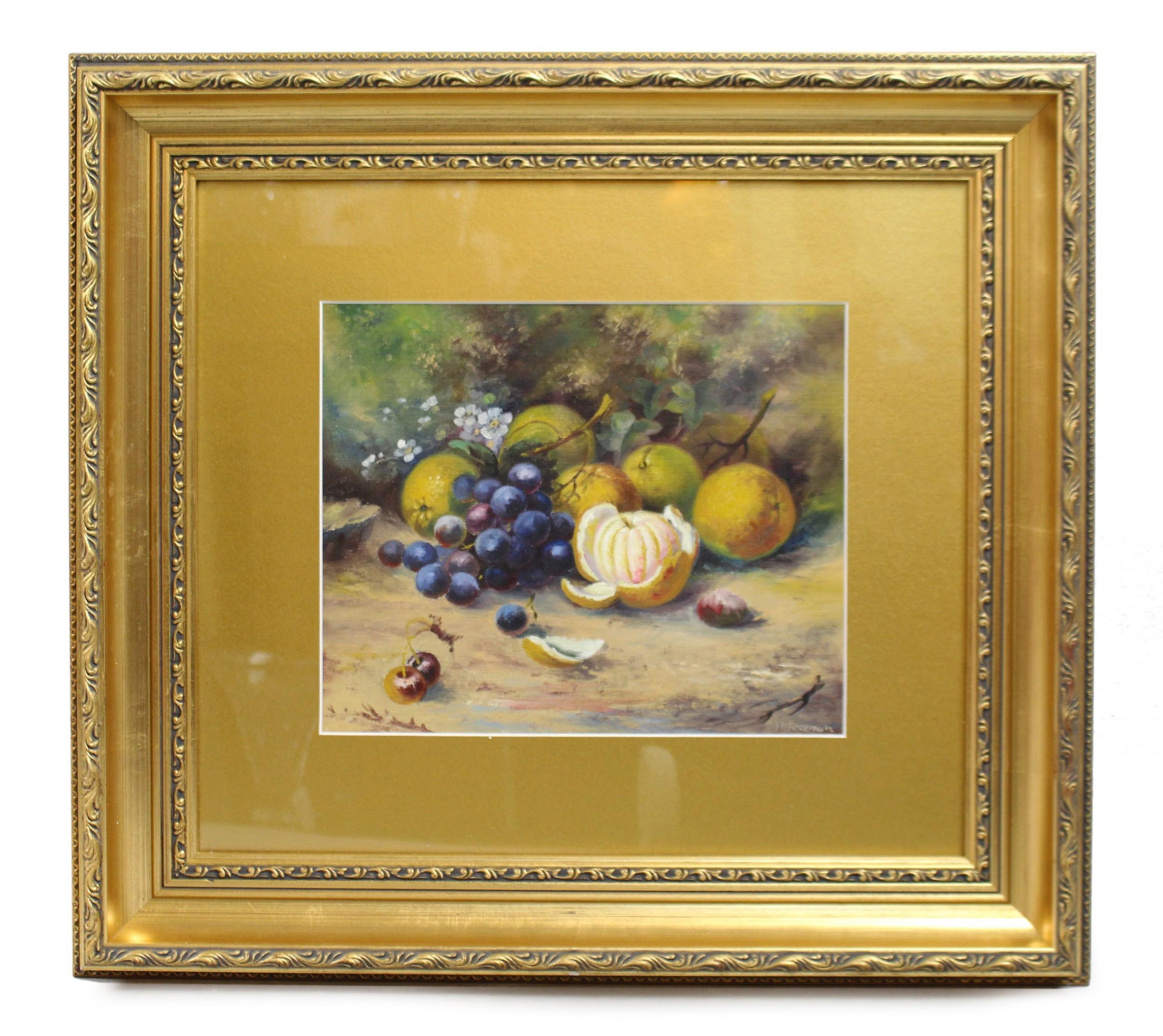 worcester fruit by john freeman b1911 oil on board