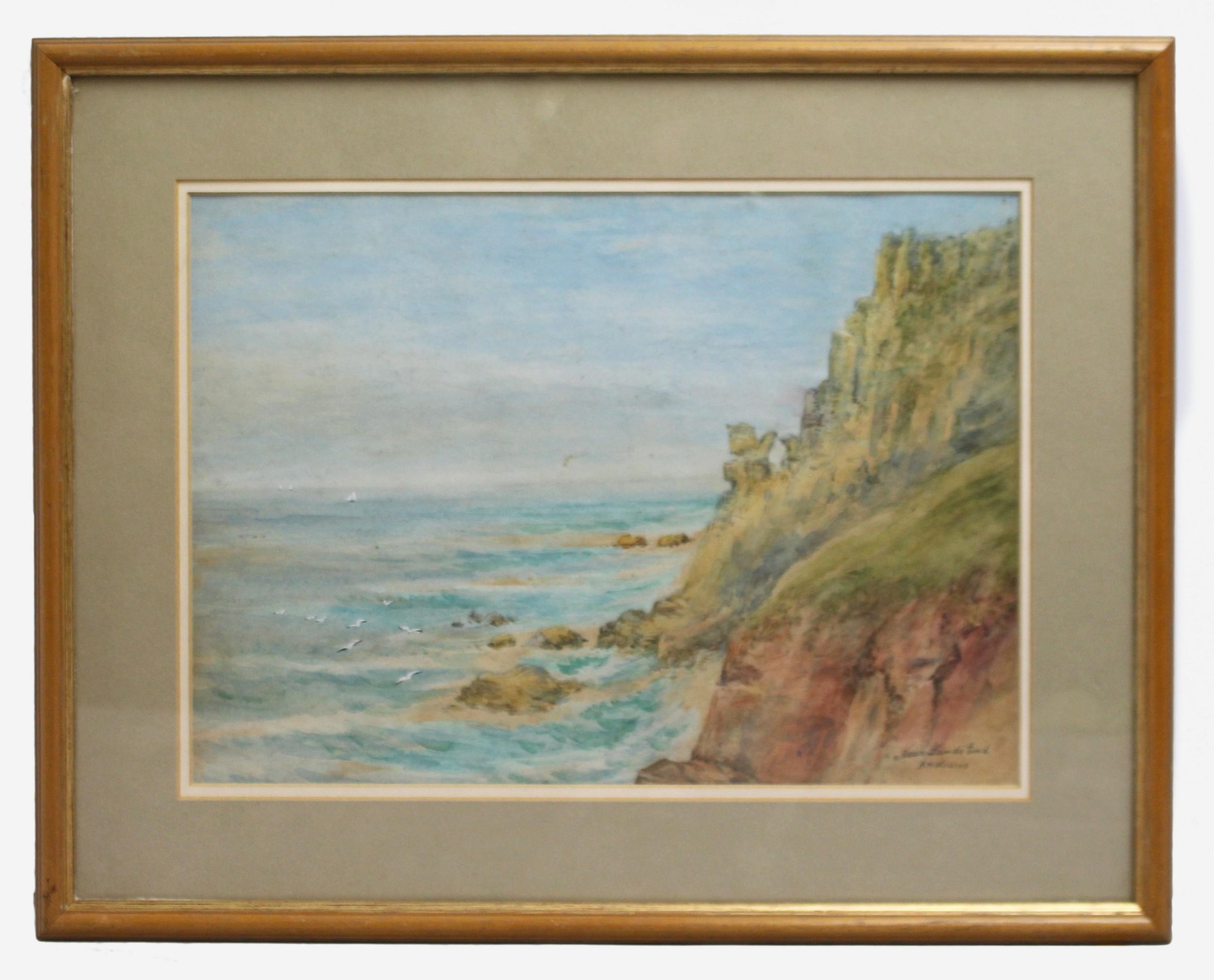'near land's end' amwilkins watercolour