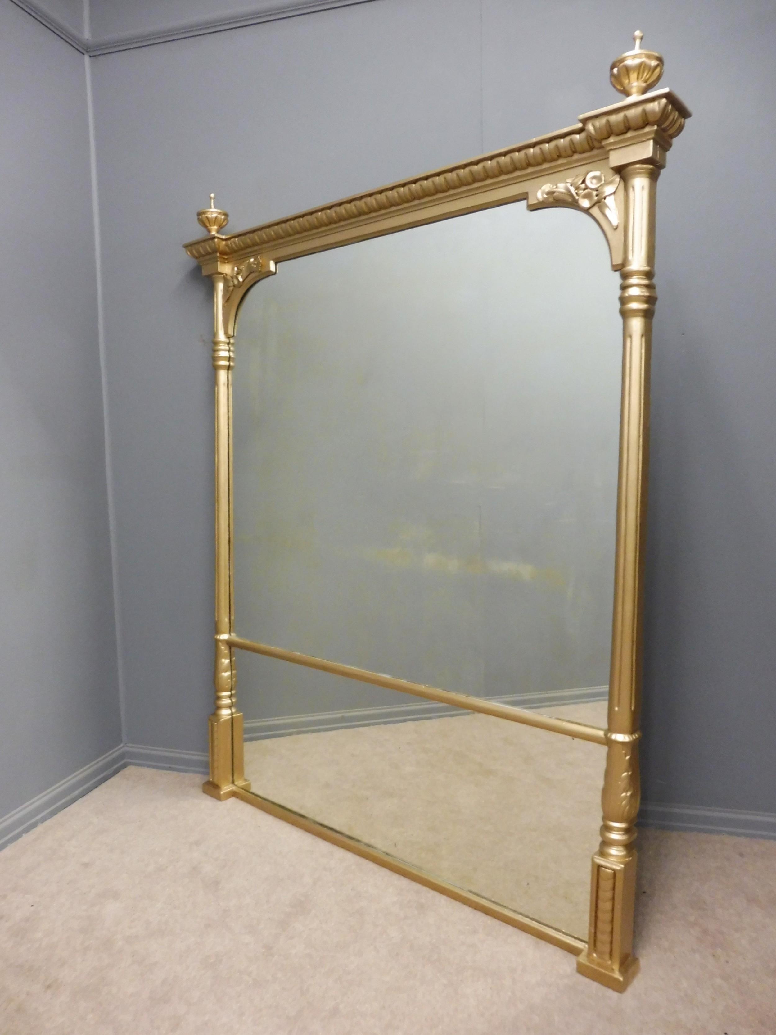 Large victorian gold framed dressing room overmantle for Celebrity dressing room mirror