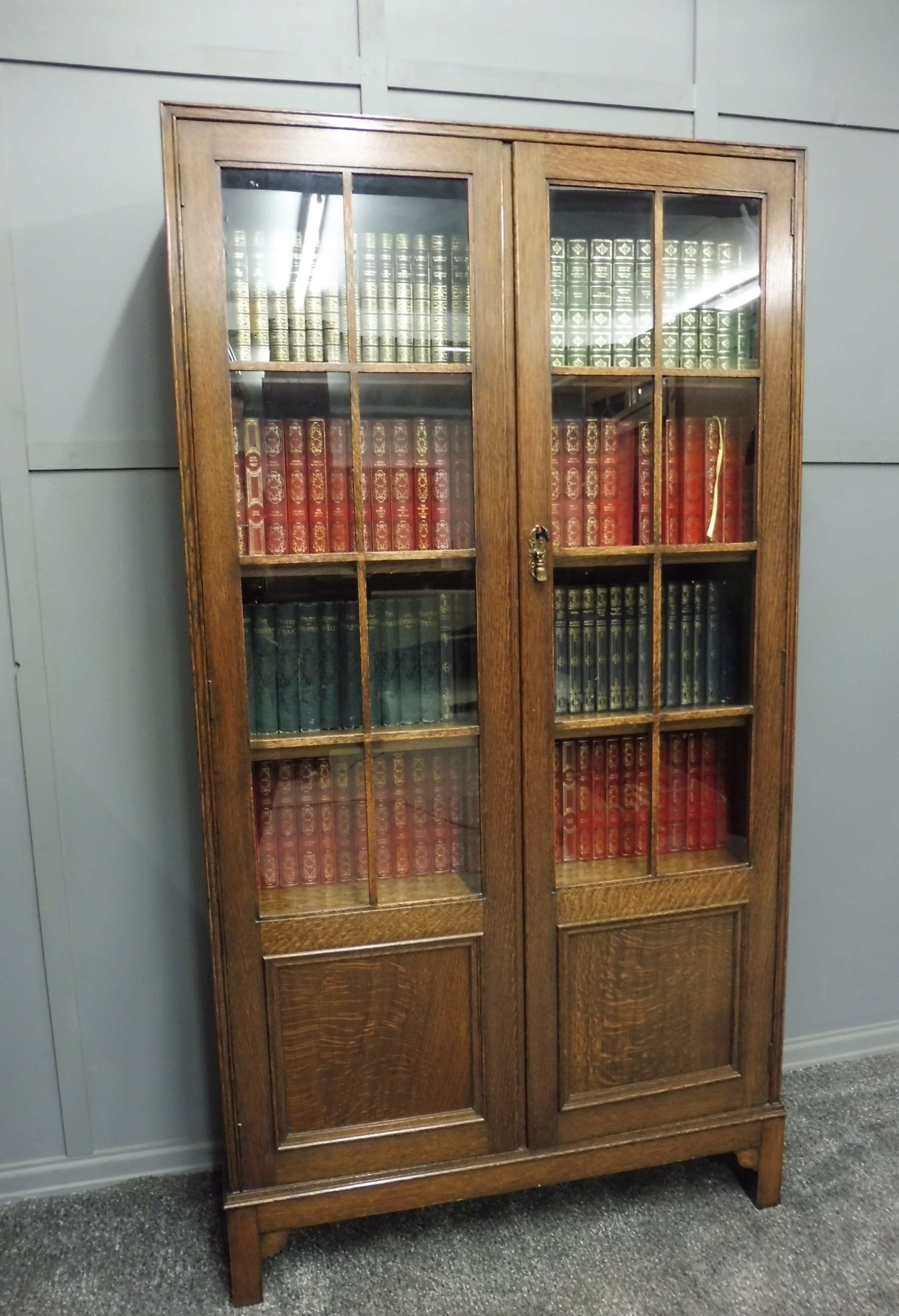 Good Solid Oak Bookcase 605729 Sellingantiques Co Uk