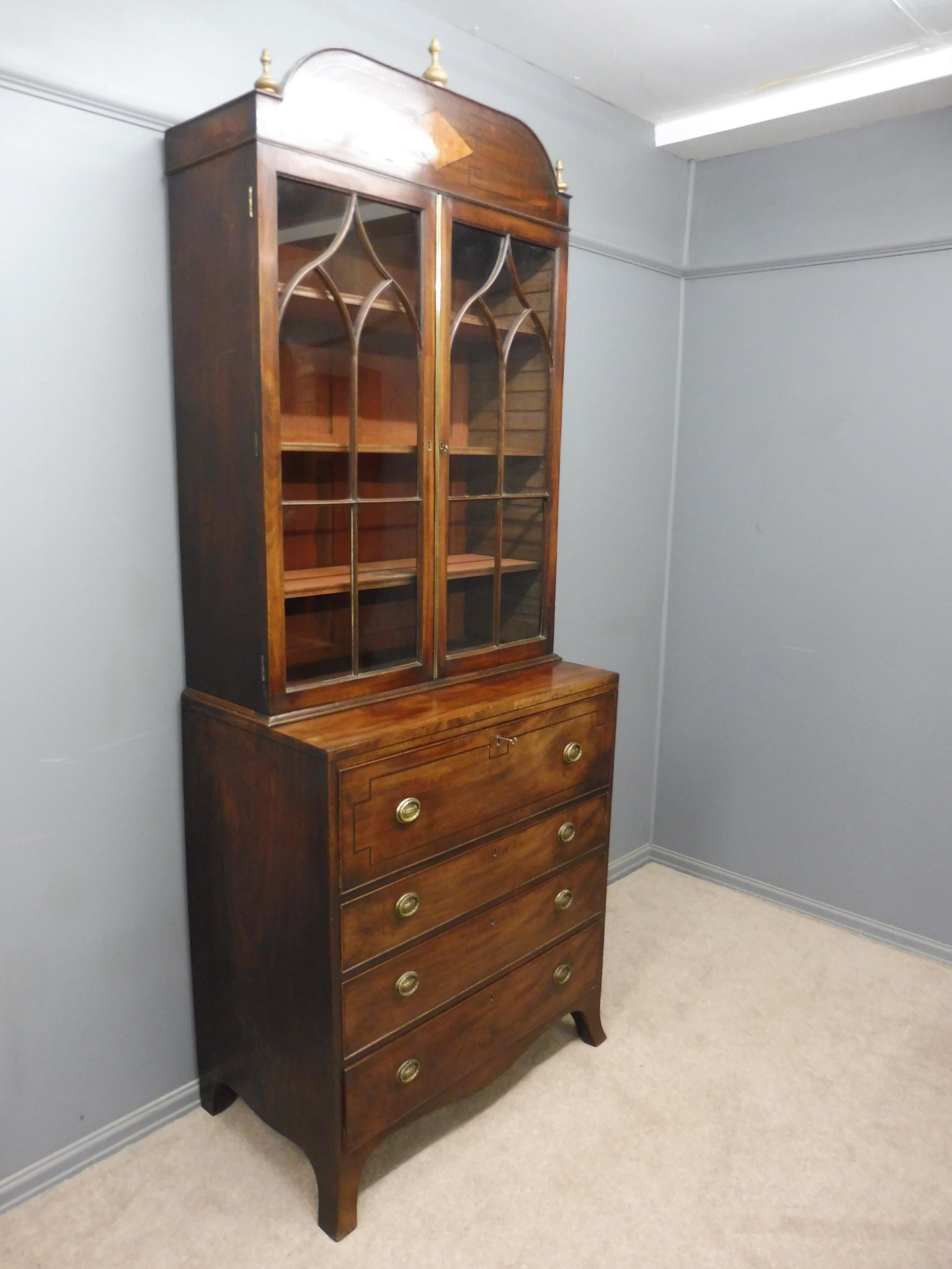 early 19th century mahogany secretaire bookcase circa 1820