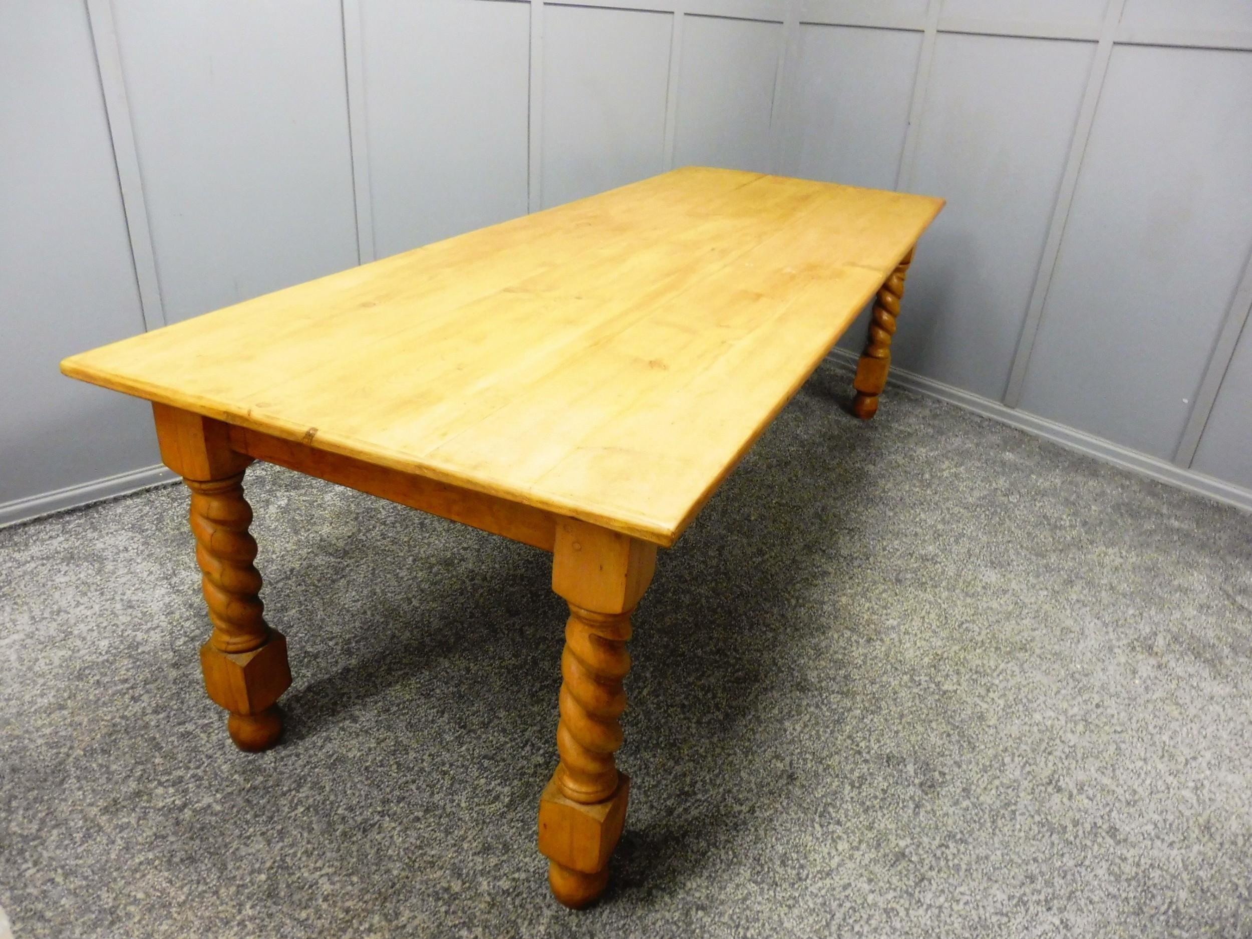 large pine twist leg table kitchen table