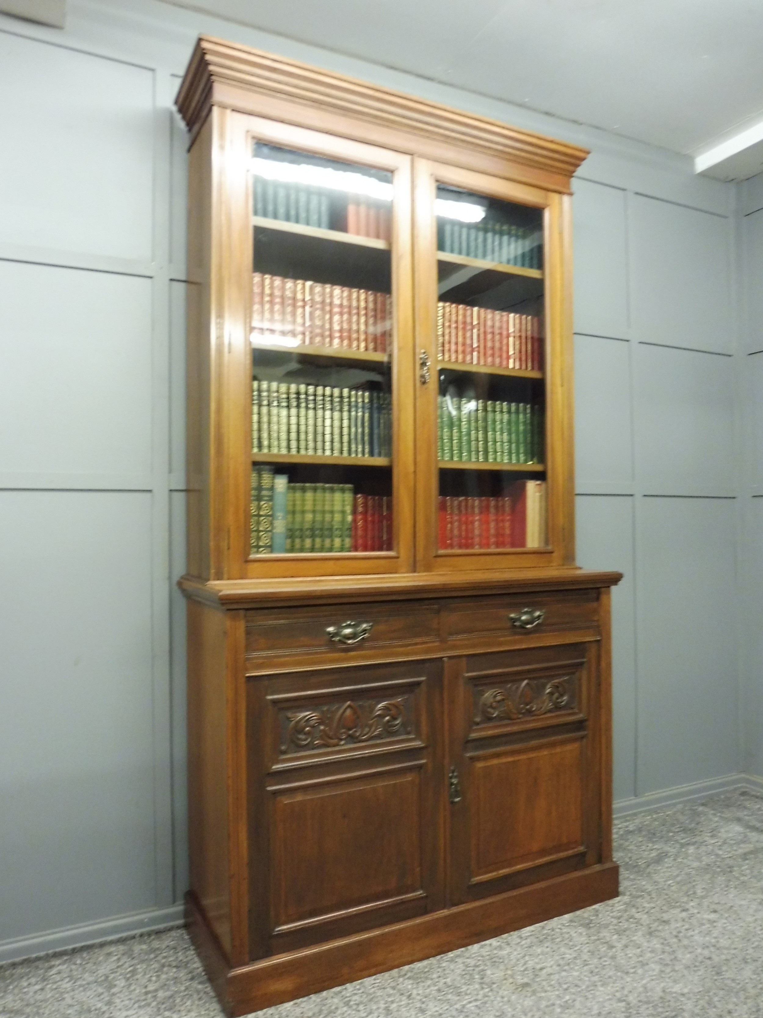 Victorian Walnut Bookcase By Maple And Co 641298