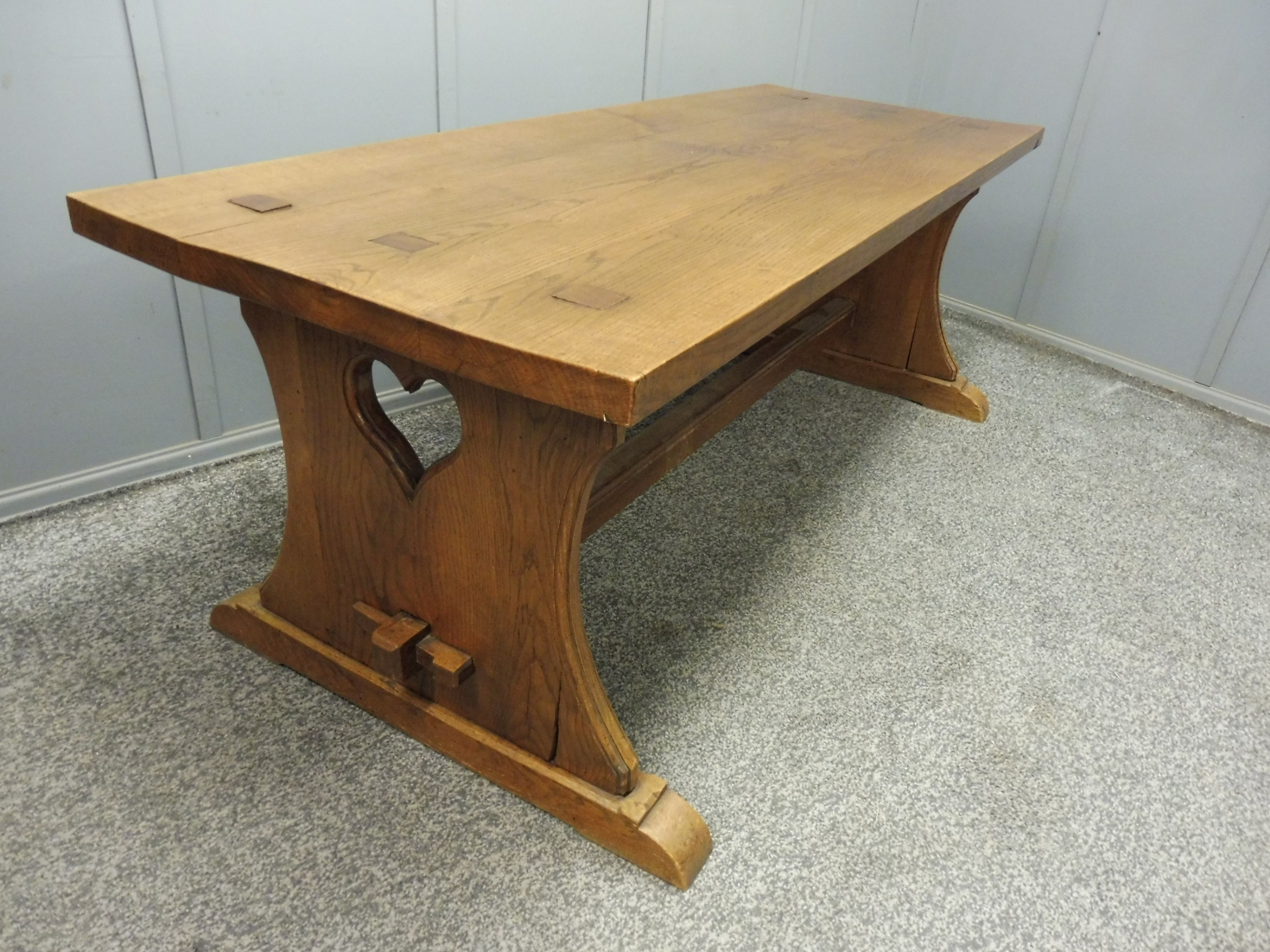 solid oak arts and crafts farmhouse table