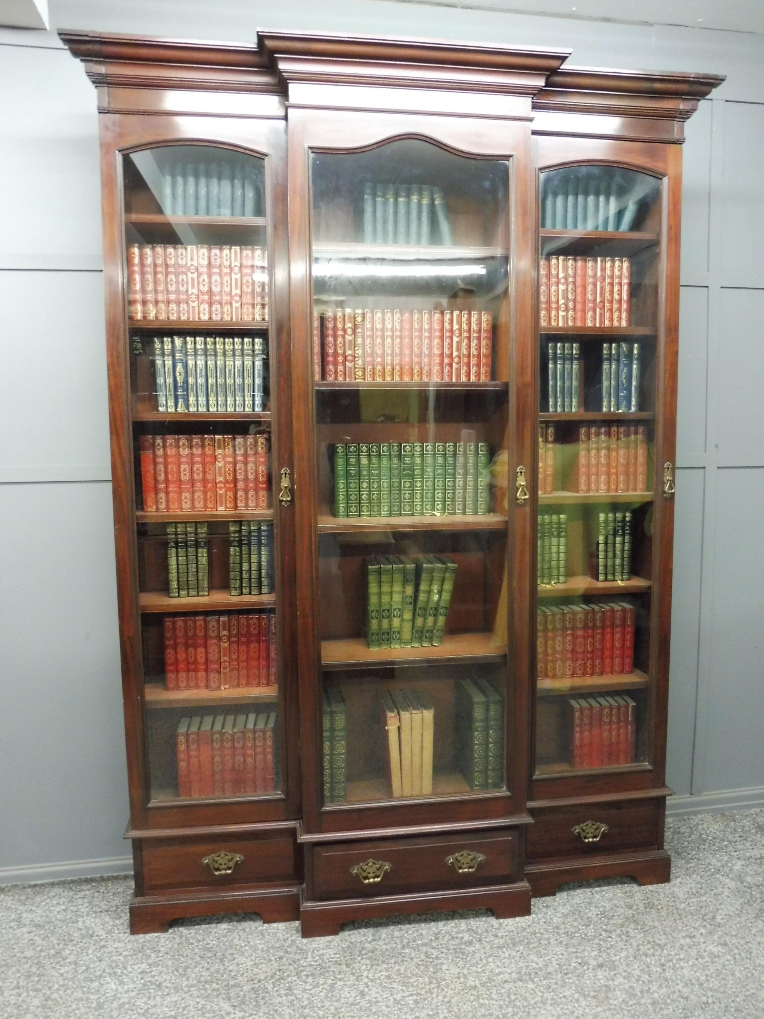 tall victorian mahogany glazed bookcase